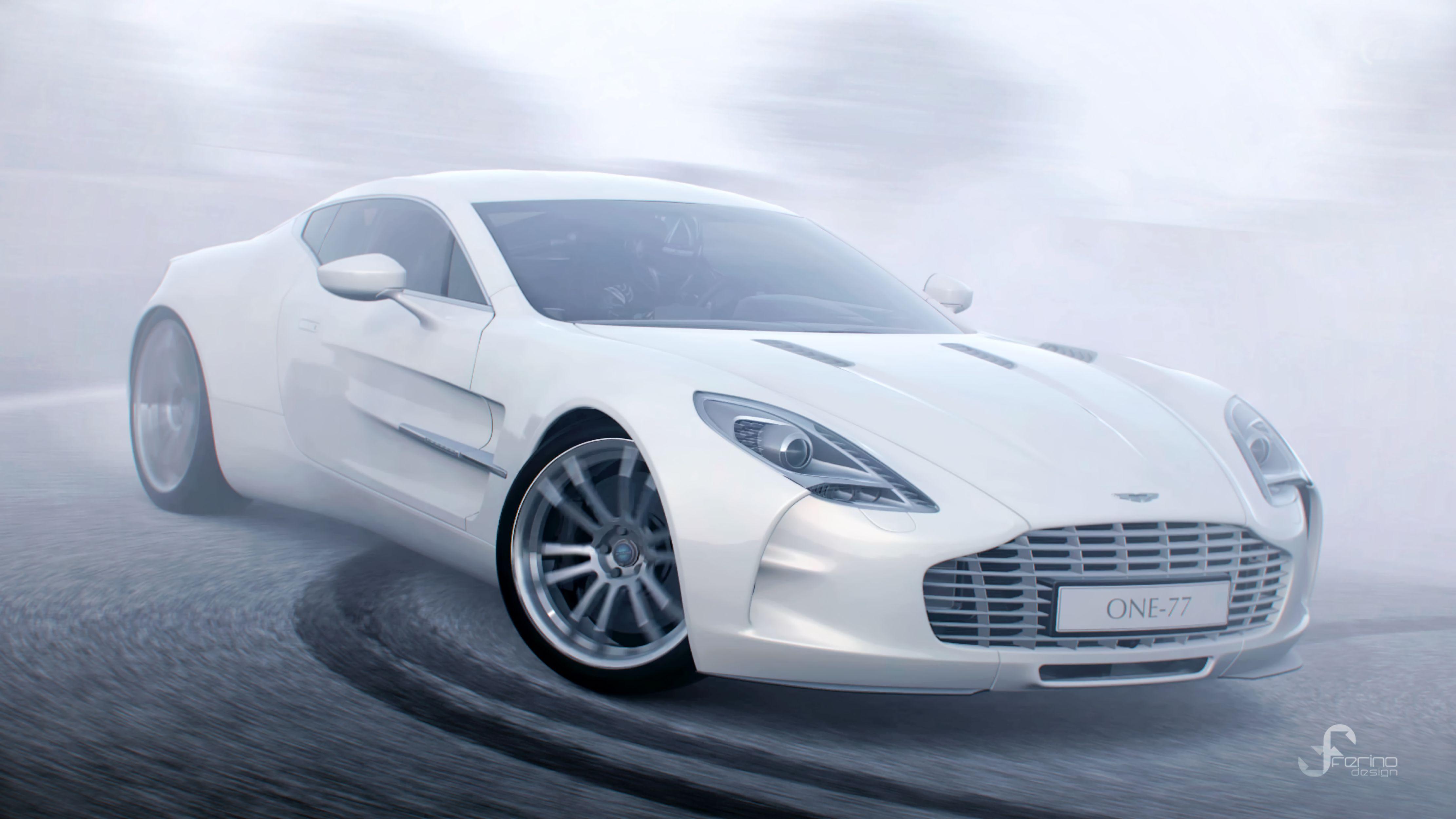 99314 Заставки и Обои Астон Мартин (Aston Martin) на телефон. Скачать Астон Мартин (Aston Martin), Тачки (Cars), Белый, Спорткар, Вид Сбоку, Дрифт, Aston Martin One 77 картинки бесплатно