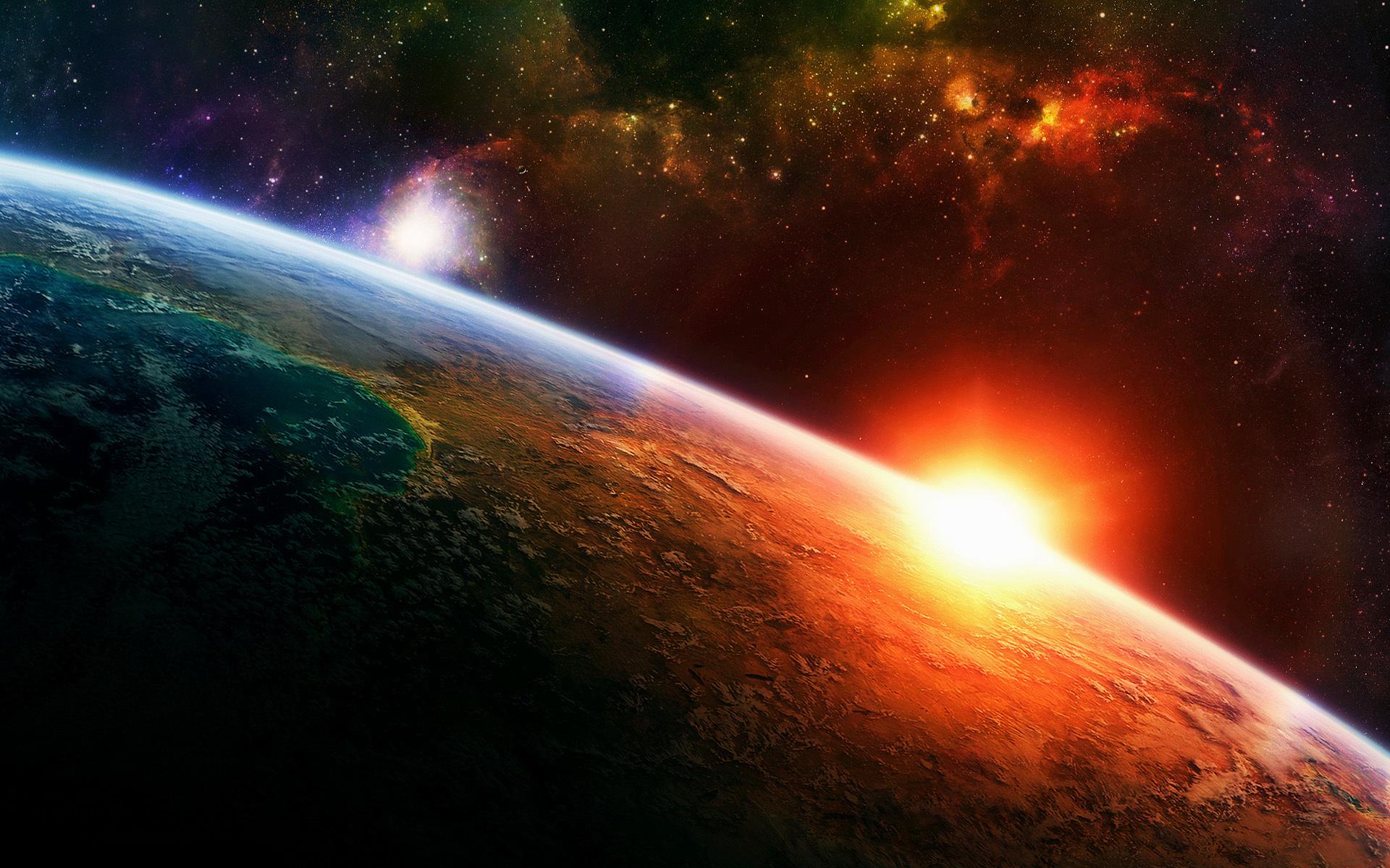 49708 скачать обои Планеты, Пейзаж, Космос, Солнце - заставки и картинки бесплатно