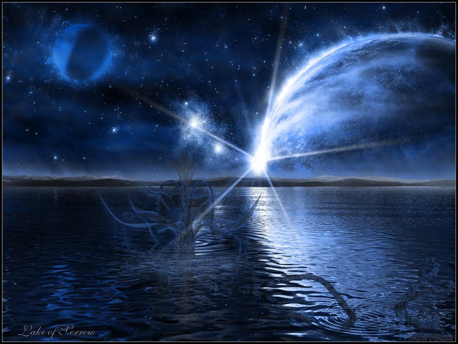 3303 скачать обои Пейзаж, Вода, Планеты, Звезды - заставки и картинки бесплатно