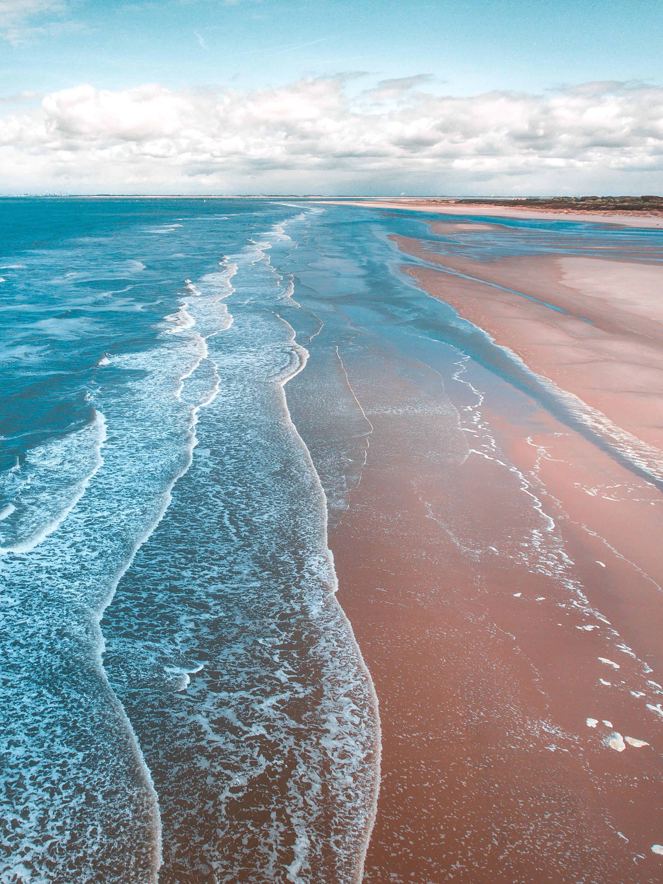 130402 Заставки и Обои Песок на телефон. Скачать Пена, Природа, Песок, Берег, Океан, Прибой картинки бесплатно