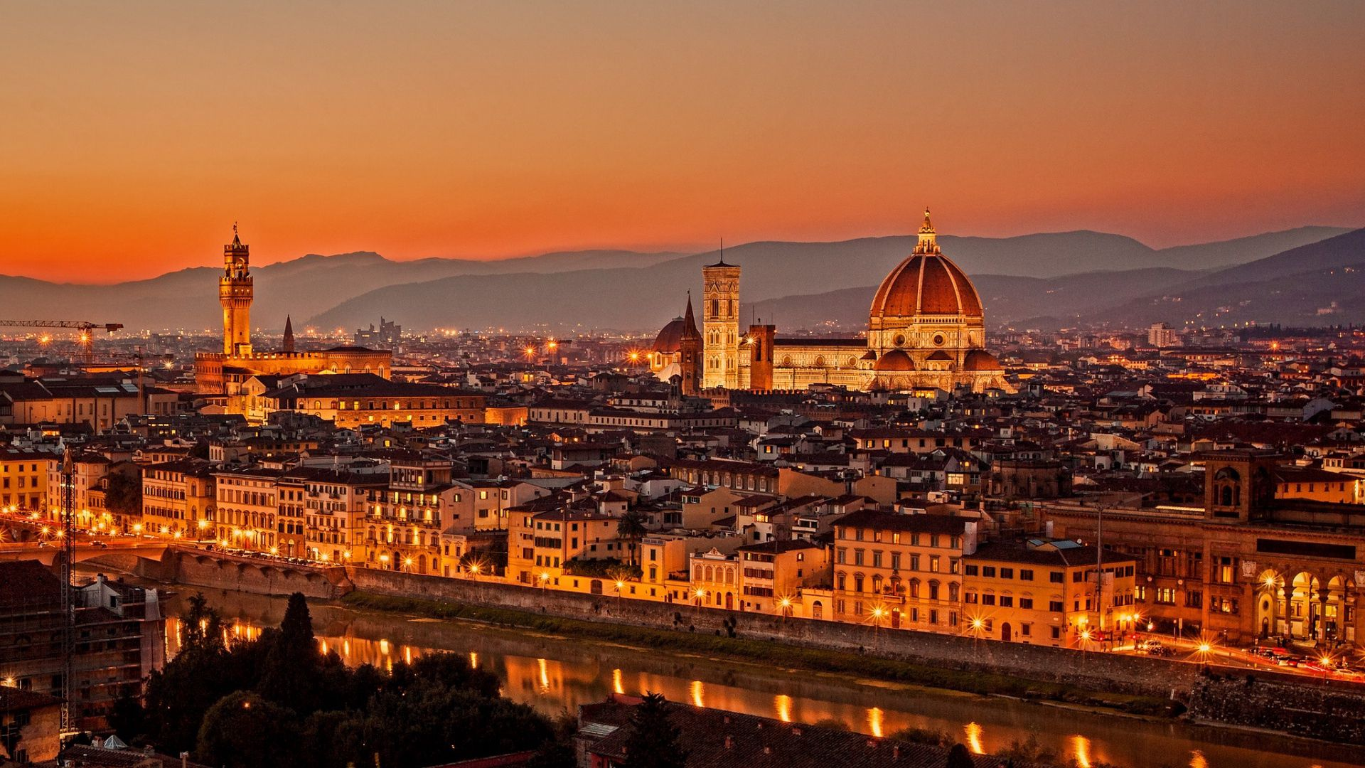 133446 скачать обои Италия, Флоренция, Города, Firenze, La Cattedrale, Ди Санта Мария Дель Фьоре - заставки и картинки бесплатно