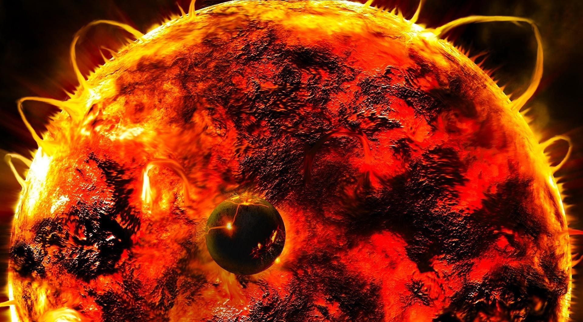 129829 Hintergrundbild 128x160 kostenlos auf deinem Handy, lade Bilder Universum, Sun, Sterne, Blitz, Planet, Planeten, Star, Energie, Ausbrüche 128x160 auf dein Handy herunter