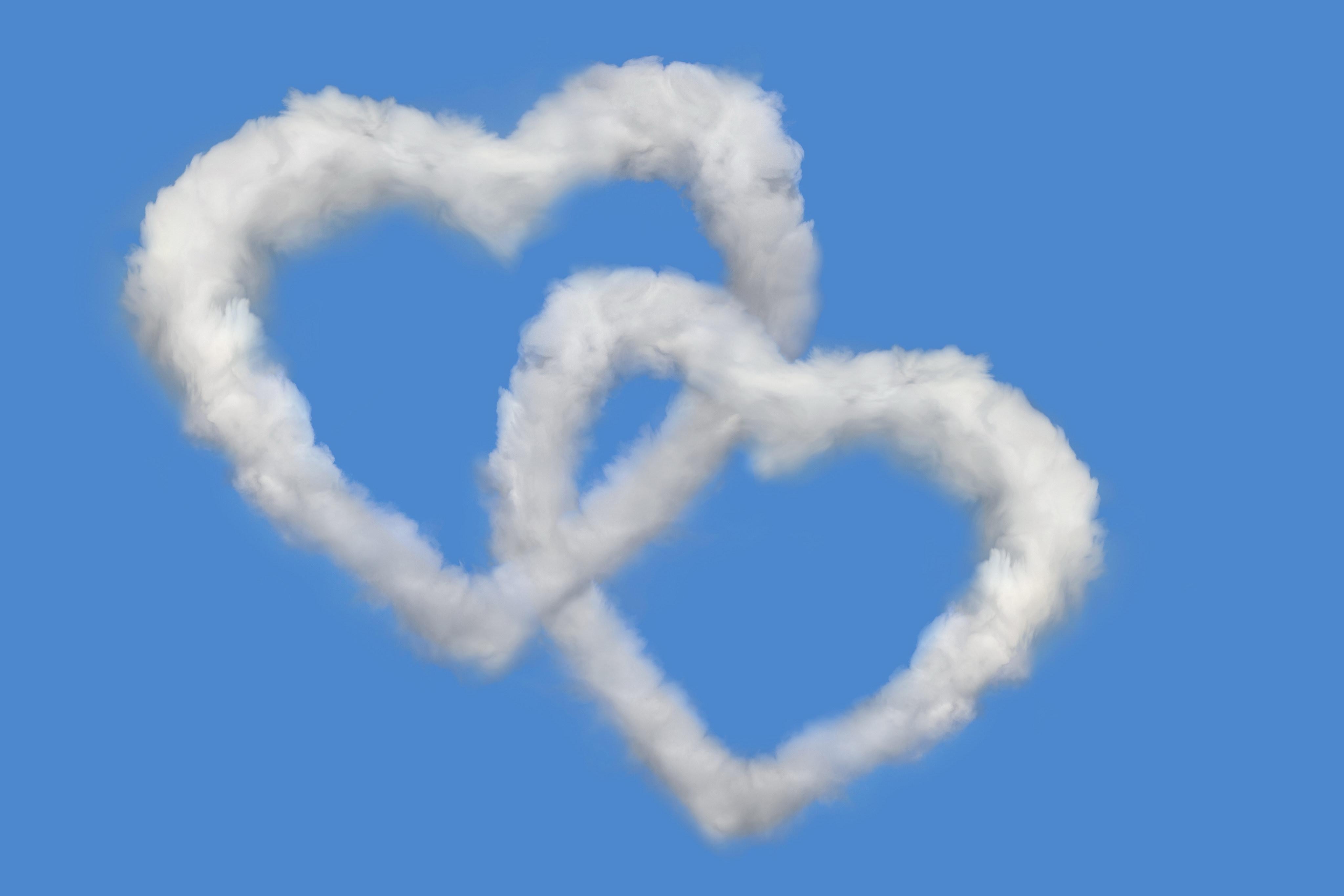 65764 fond d'écran 320x480 sur votre téléphone gratuitement, téléchargez des images Amour, Sky, Cœurs, Nuages 320x480 sur votre mobile