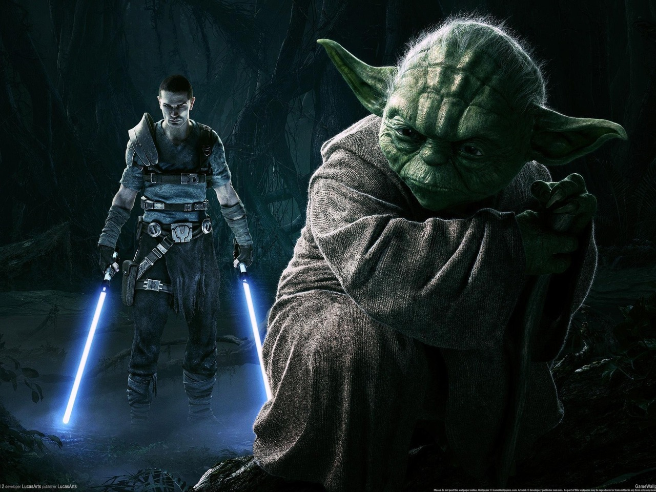 11548 Screensavers and Wallpapers Star Wars for phone. Download Games, Star Wars, Master Yoda pictures for free