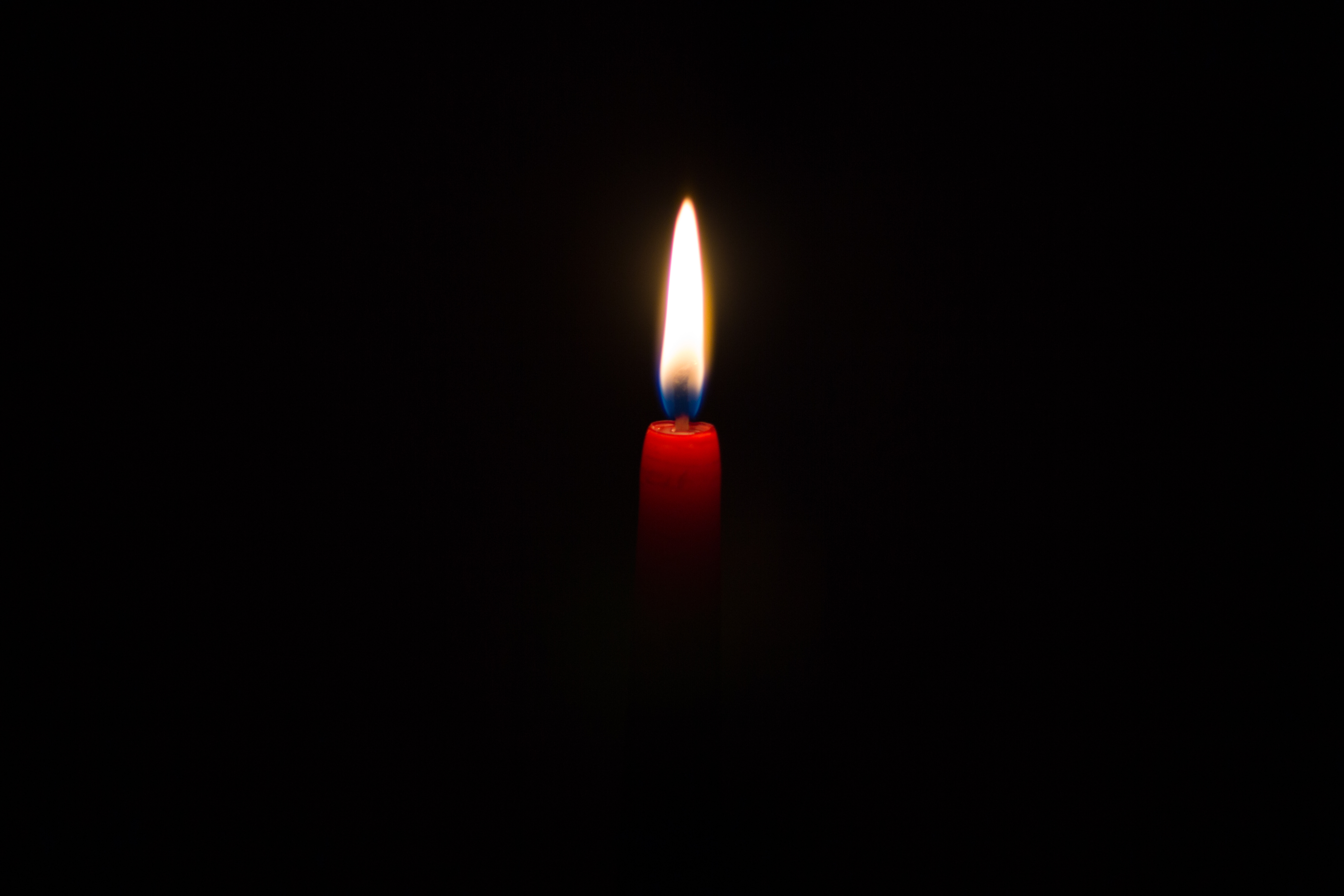 146926 download wallpaper Flame, Minimalism, Dark Background, Candle, Wax screensavers and pictures for free