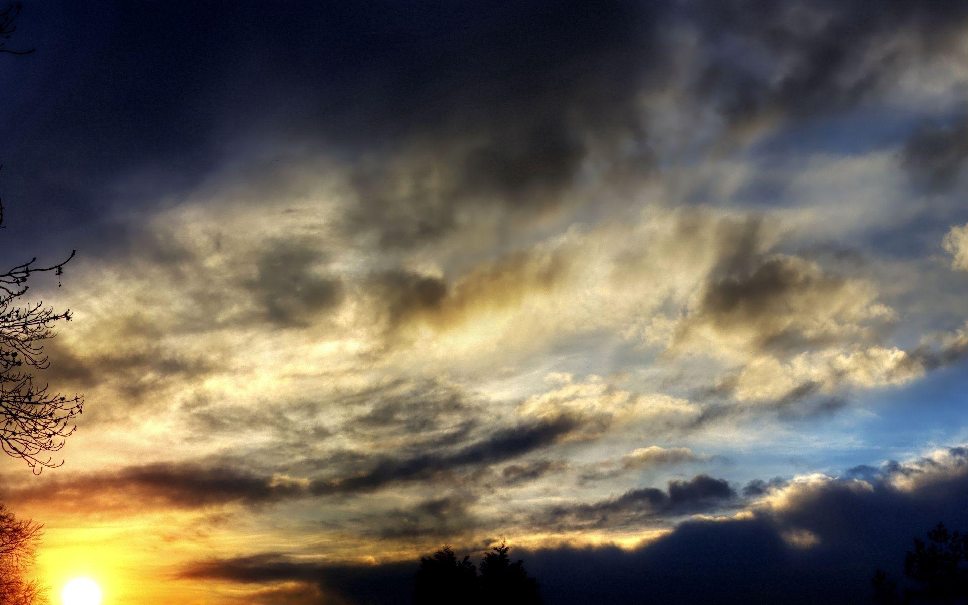 60539 скачать обои Природа, Тени, Небо, Облака, Вечер, Закат, Сумерки - заставки и картинки бесплатно