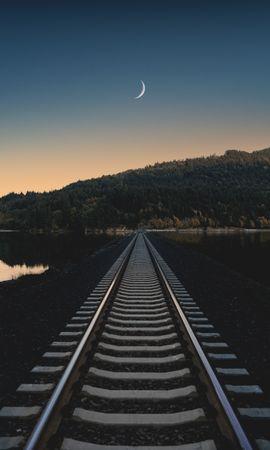 67871 скачать обои Природа, Железная Дорога, Вечер, Горизонт - заставки и картинки бесплатно