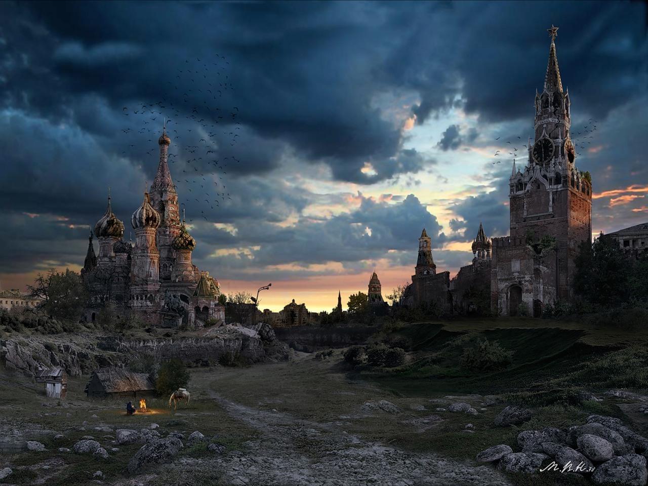 22510 скачать обои Кремль, Пейзаж, Города, Фэнтези, Москва - заставки и картинки бесплатно
