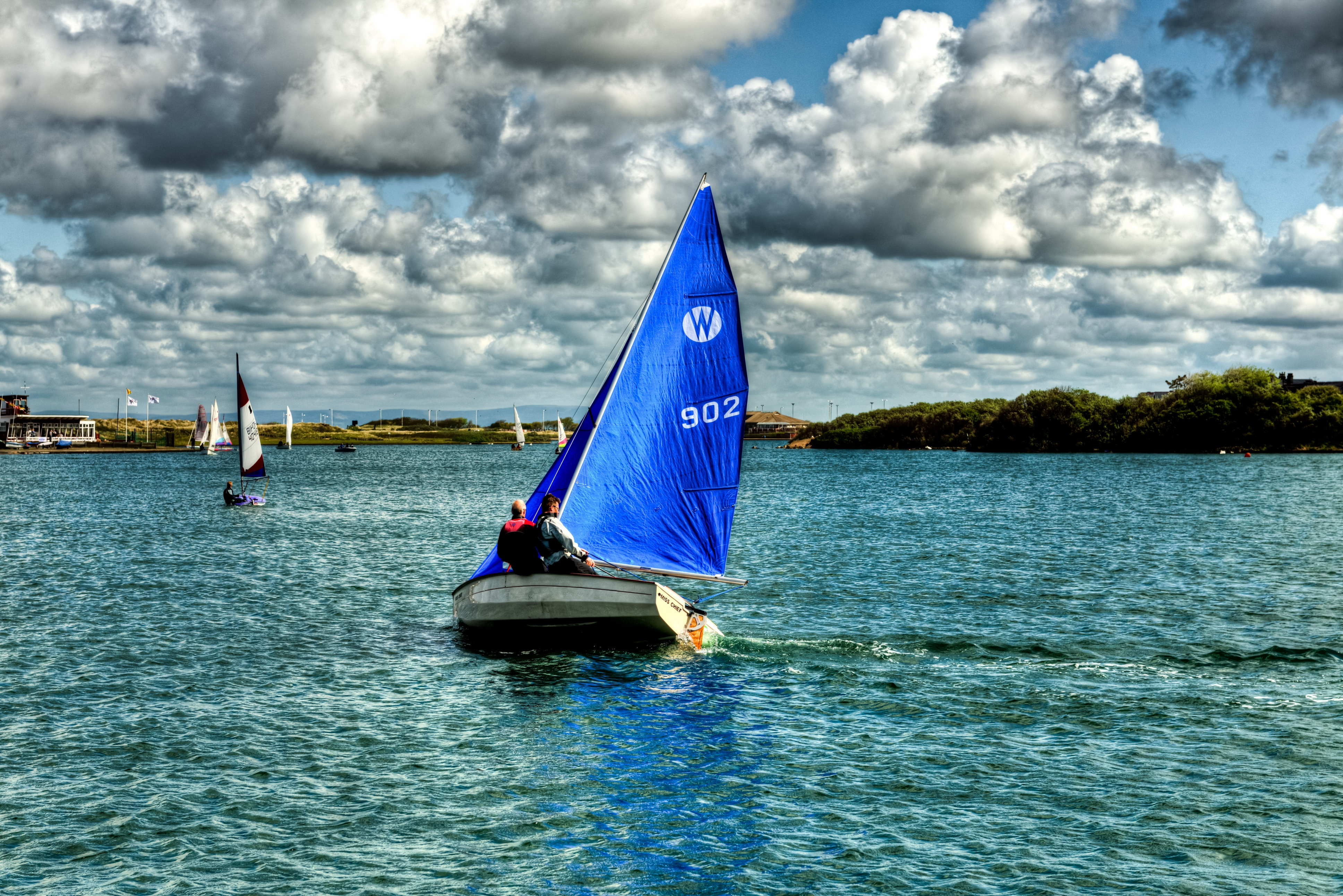 120010 download wallpaper Sports, Ships, Sailboats, England, Sky, Lake screensavers and pictures for free