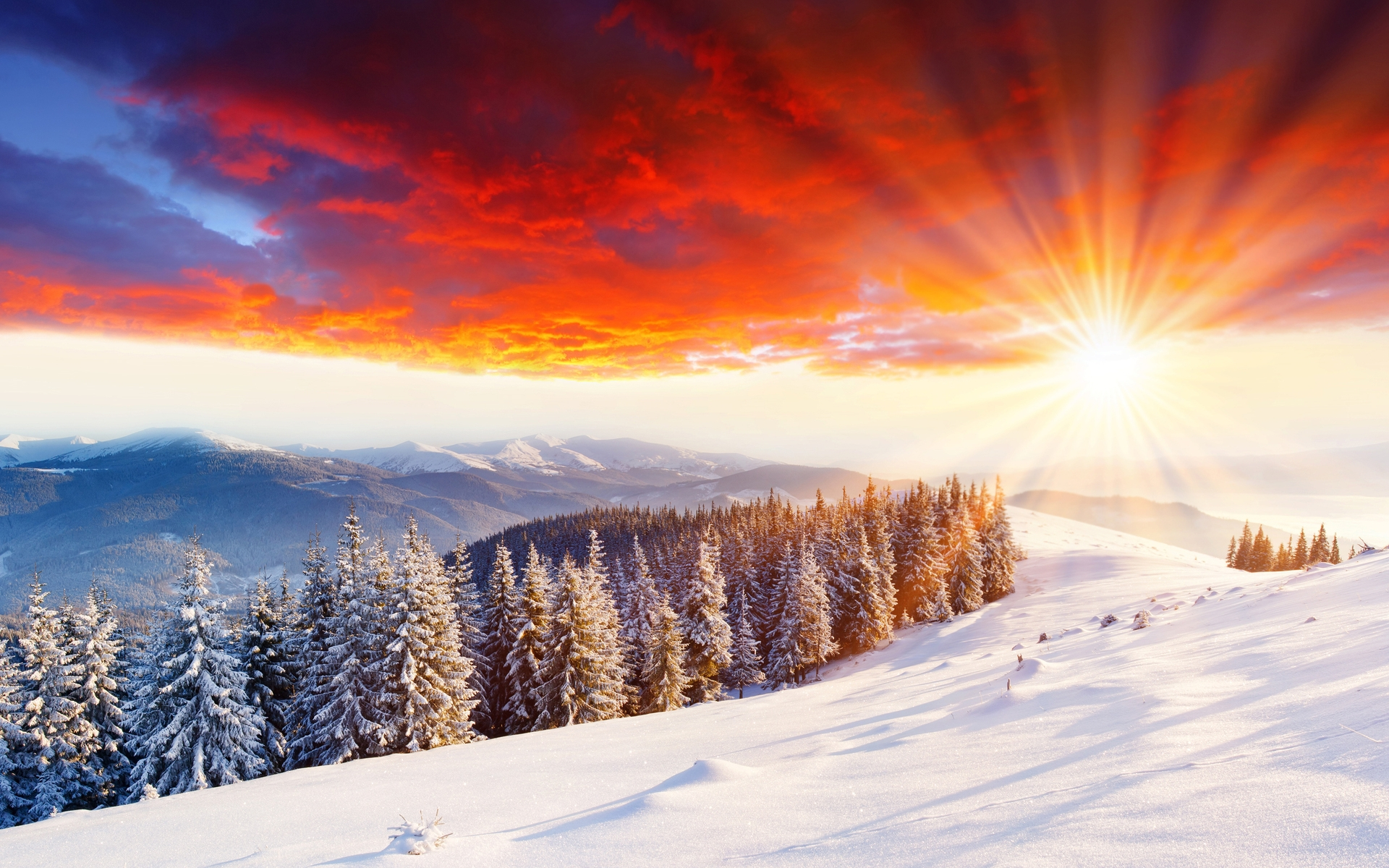 32121 download wallpaper Landscape, Sunset, Mountains screensavers and pictures for free