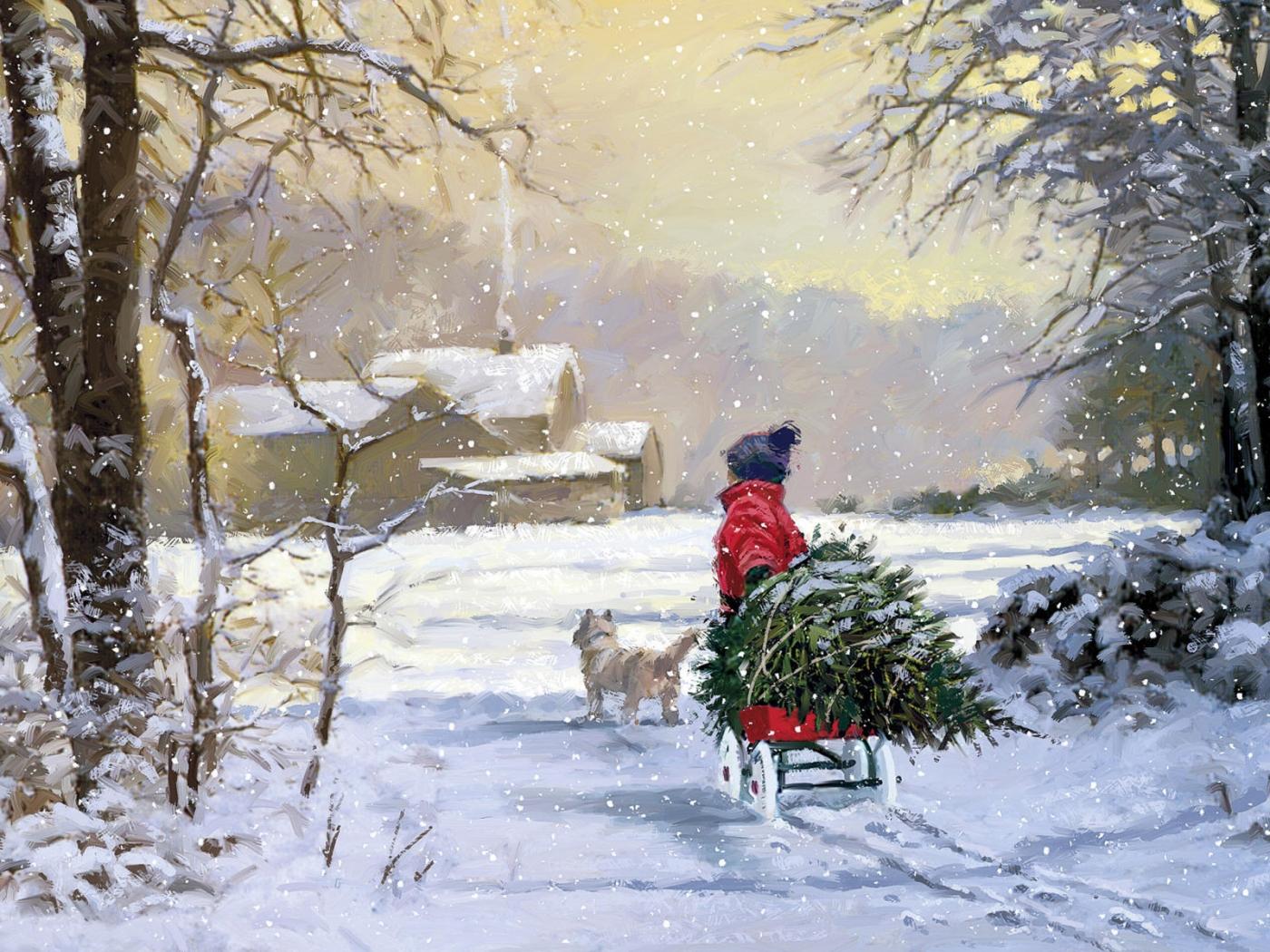 32311 скачать обои Зима, Дети, Рисунки - заставки и картинки бесплатно