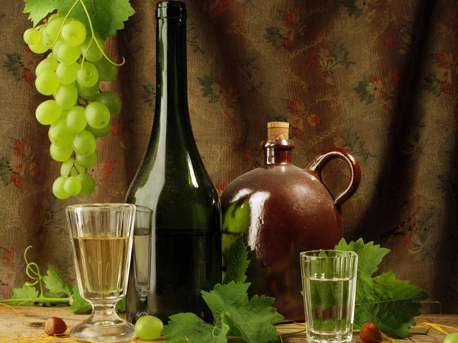 22291 скачать обои Еда, Виноград, Вино, Напитки, Натюрморт - заставки и картинки бесплатно