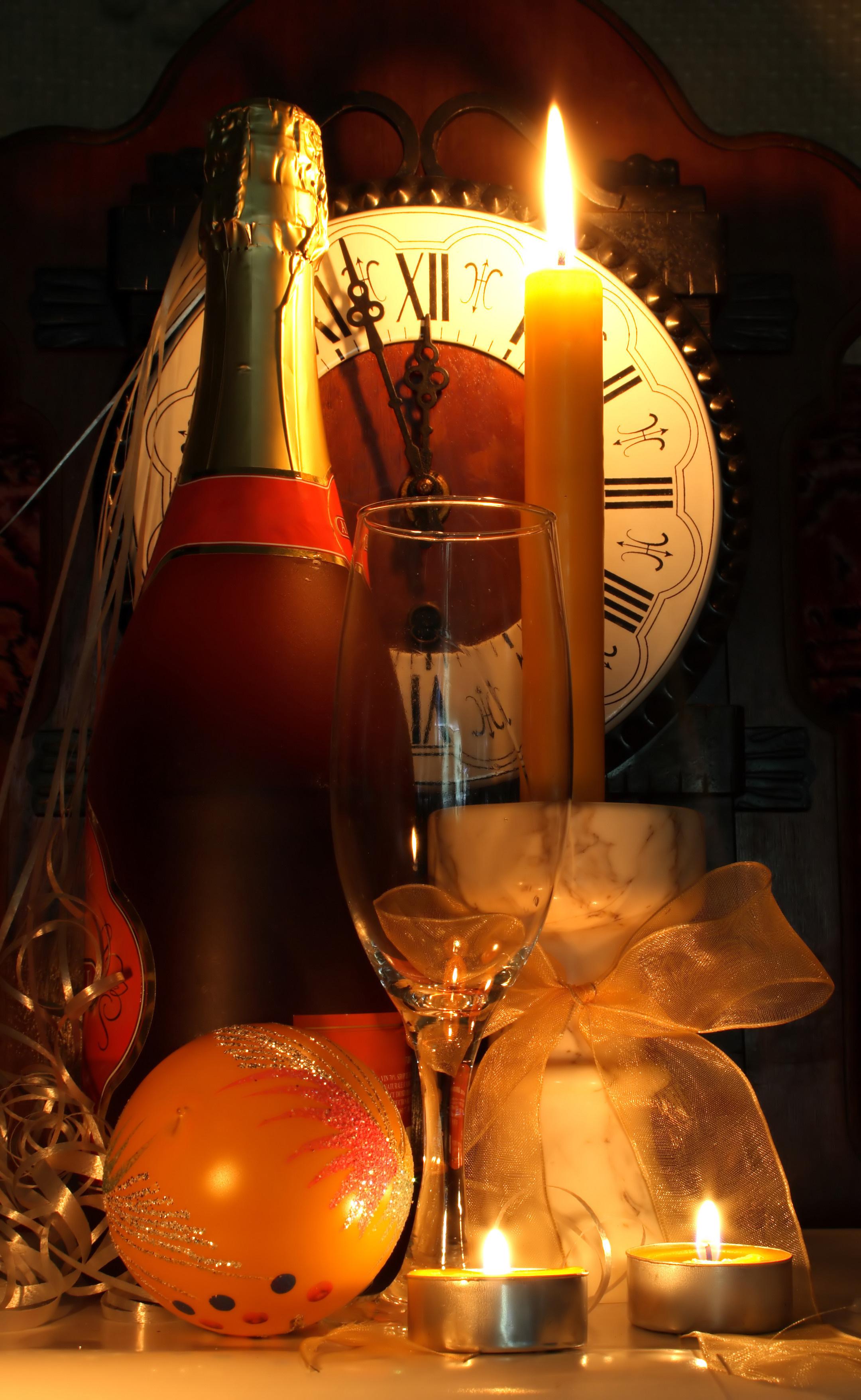 14041 скачать обои Праздники, Новый Год (New Year), Рождество (Christmas, Xmas), Свечи, Напитки - заставки и картинки бесплатно