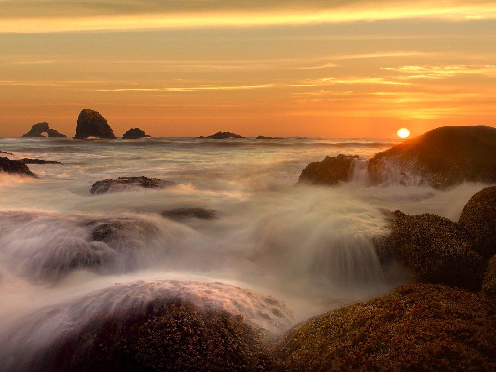 4124 скачать обои Пейзаж, Вода, Река, Закат, Солнце - заставки и картинки бесплатно