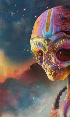 80546 télécharger le fond d'écran Abstrait, Extraterrestre, Étranger, Art, Multicolore, Hétéroclite - économiseurs d'écran et images gratuitement