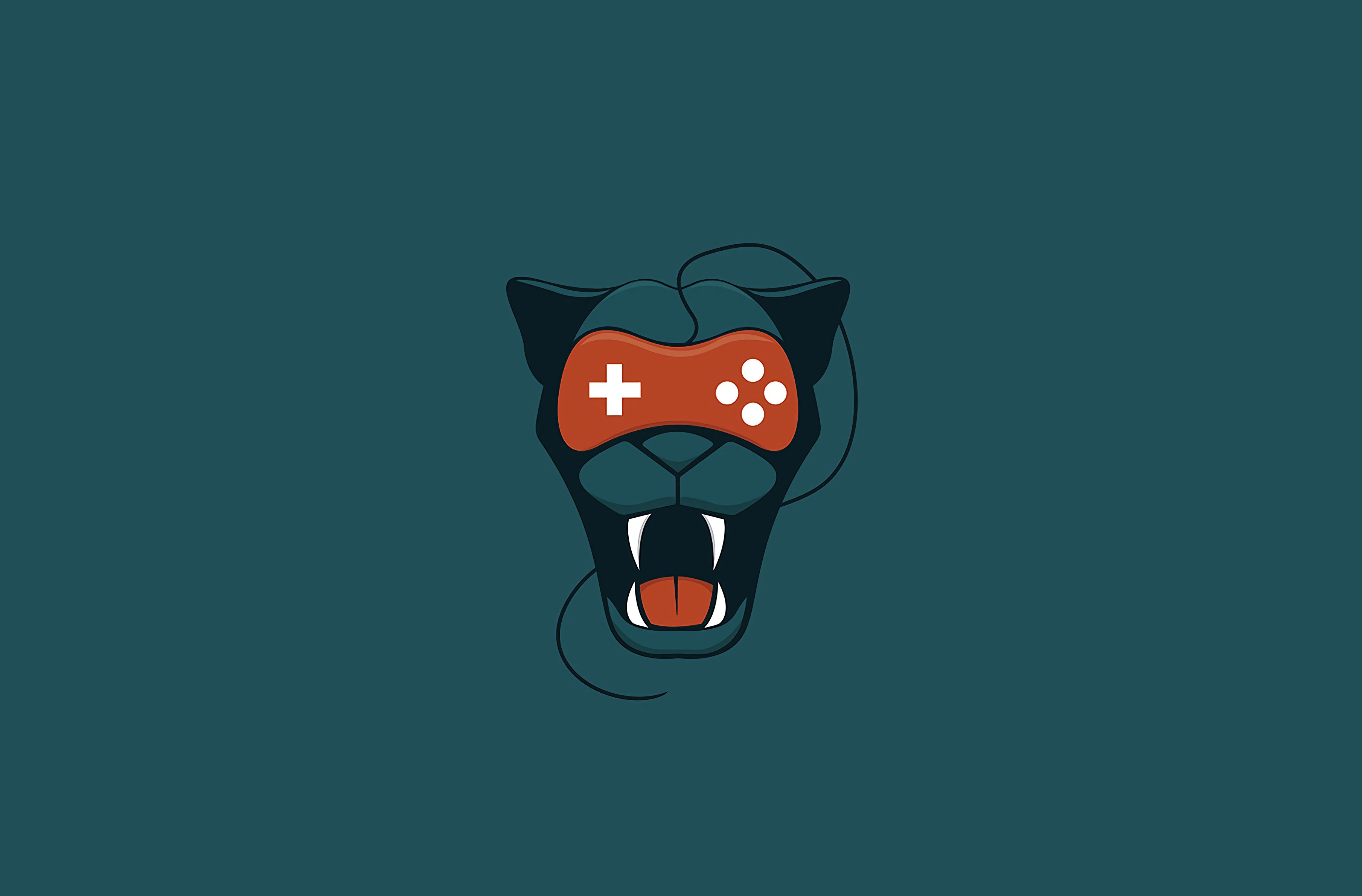 123272 download wallpaper Art, Puma, Grin, Minimalism, Joystick screensavers and pictures for free