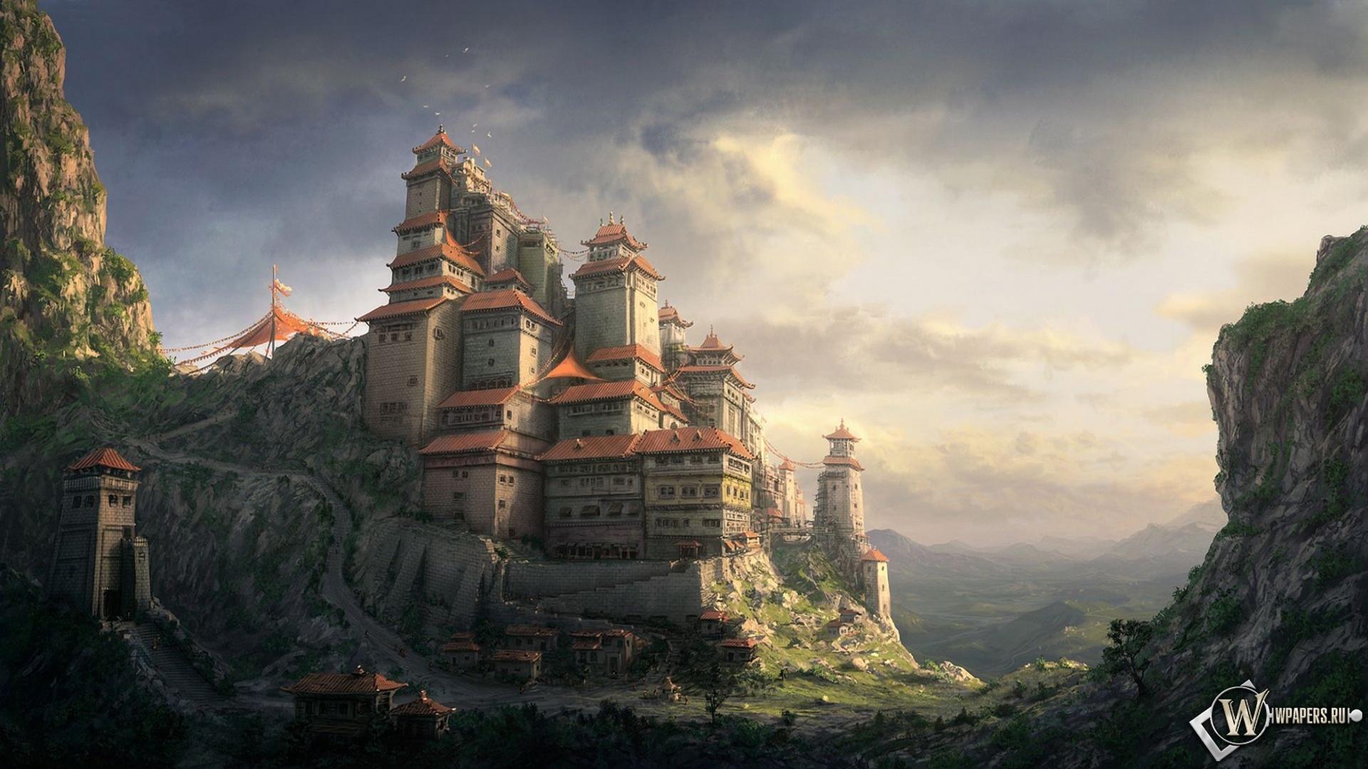 16972 скачать обои Пейзаж, Горы, Азия, Рисунки - заставки и картинки бесплатно