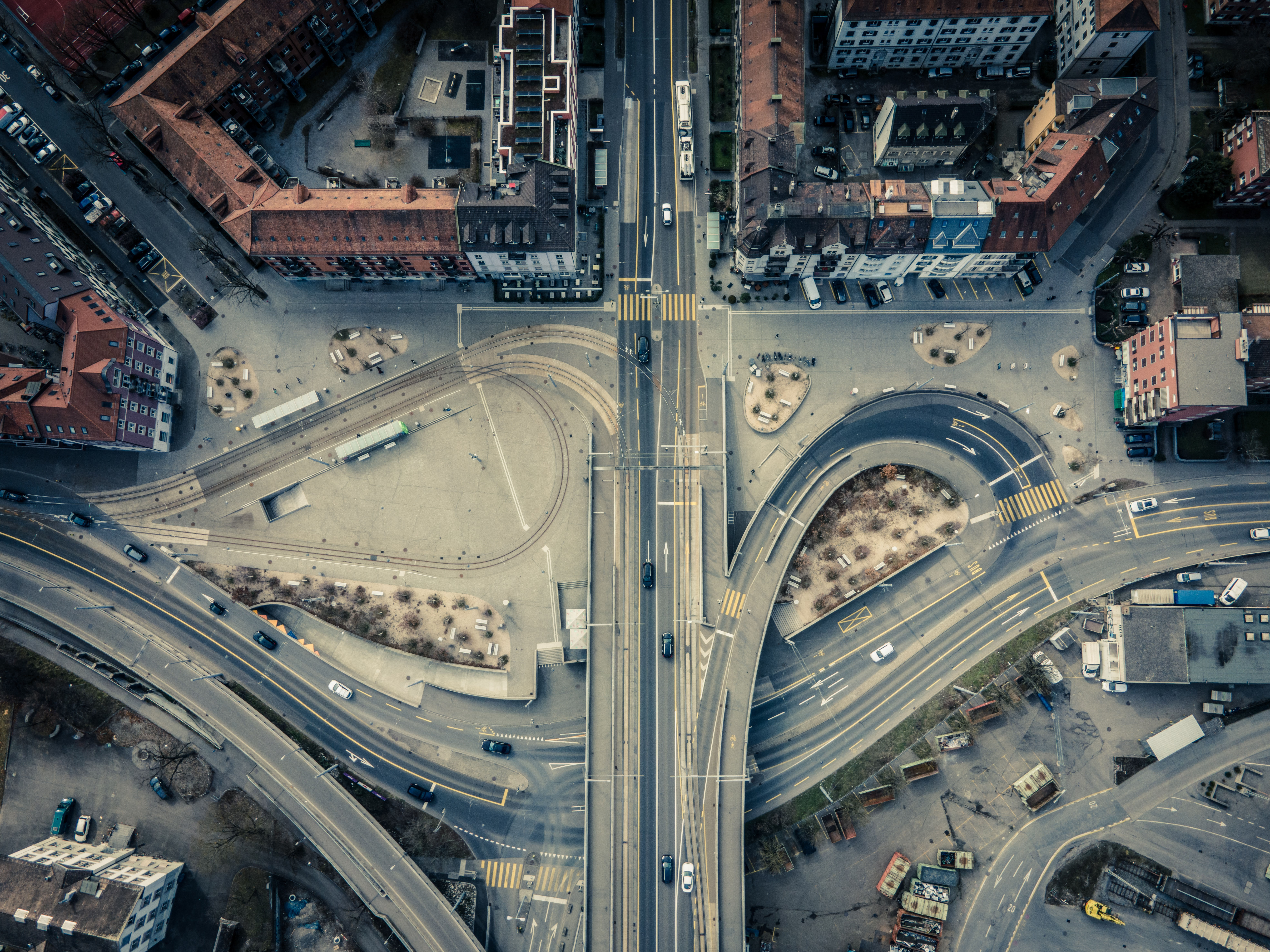 147360 Screensavers and Wallpapers Roads for phone. Download Cities, Roads, Architecture, City, Building, View From Above pictures for free