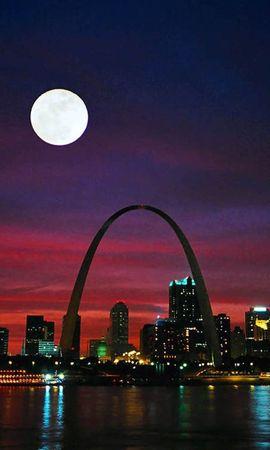 18513 скачать обои Пейзаж, Города, Ночь, Луна - заставки и картинки бесплатно