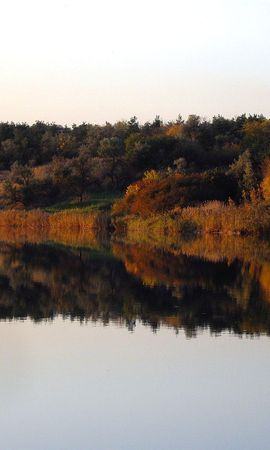 1853 download wallpaper Landscape, Water, Rivers, Trees, Autumn screensavers and pictures for free