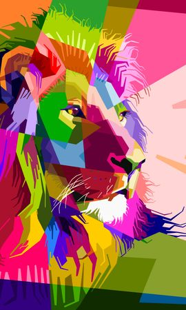 138116 économiseurs d'écran et fonds d'écran Vecteur sur votre téléphone. Téléchargez Vecteur, Un Lion, Lion, Art, Coloré, Museau, Muselière images gratuitement