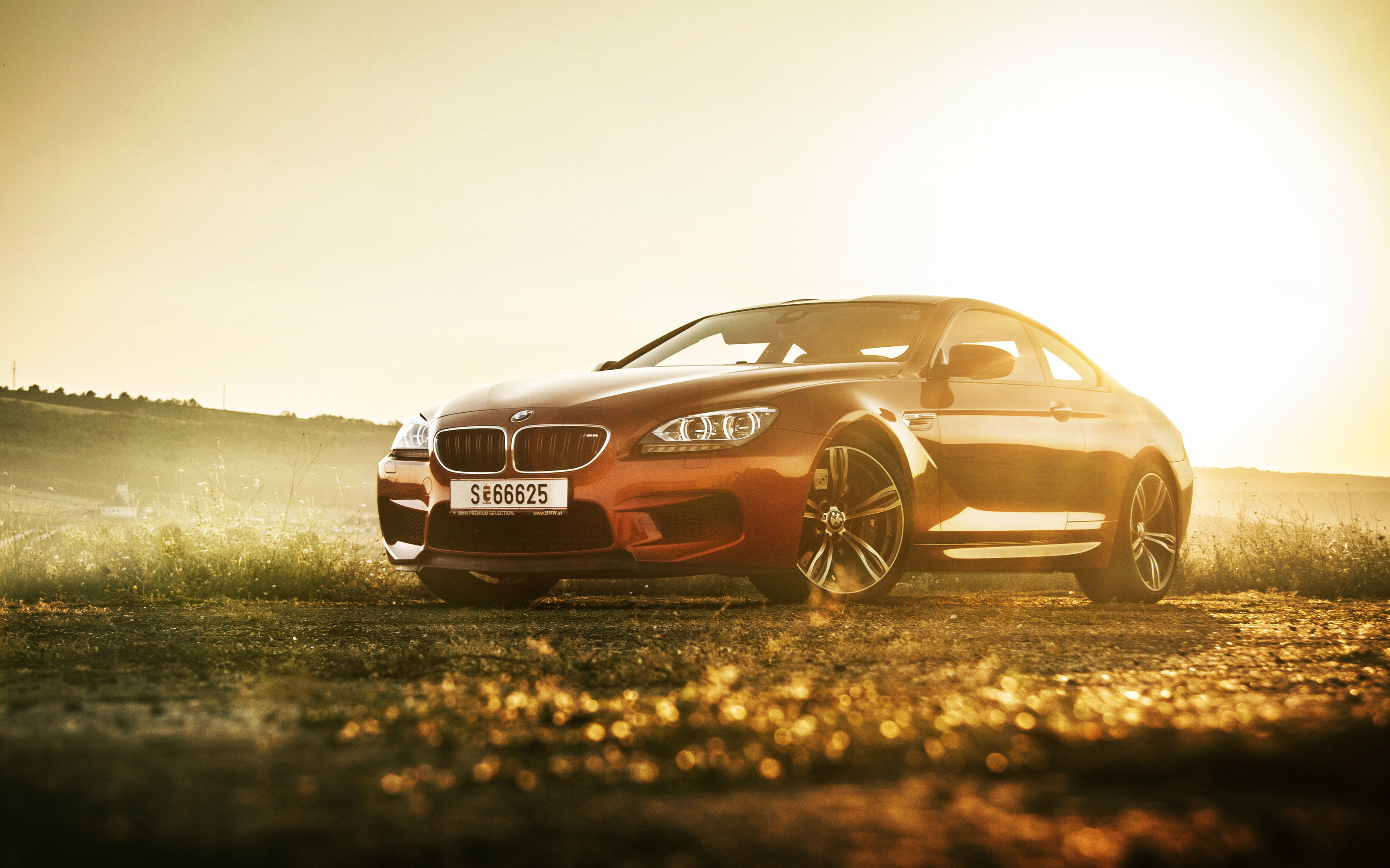 145370 download wallpaper Cars, Bmw M6, Bmw, Auto, Side View, Shine, Light screensavers and pictures for free