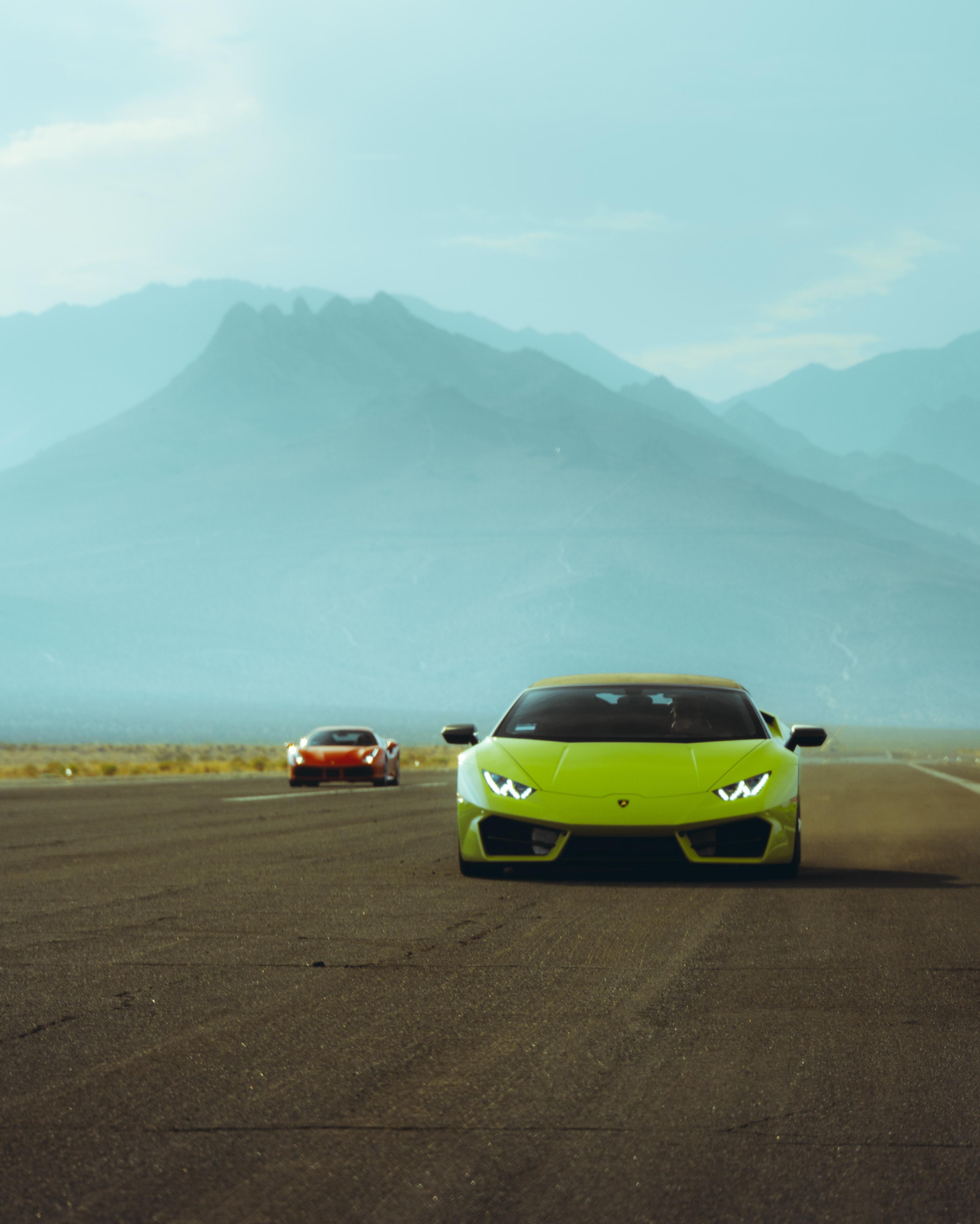 61106 Заставки и Обои Ламборджини (Lamborghini) на телефон. Скачать Ламборджини (Lamborghini), Тачки (Cars), Дорога, Автомобиль, Зеленый, Lamborghini Huracan картинки бесплатно