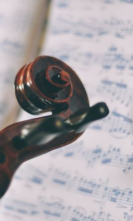 63659 Screensavers and Wallpapers Music for phone. Download Miscellanea, Miscellaneous, Violin, Notes, Music, Sheet, Leaf, Macro pictures for free