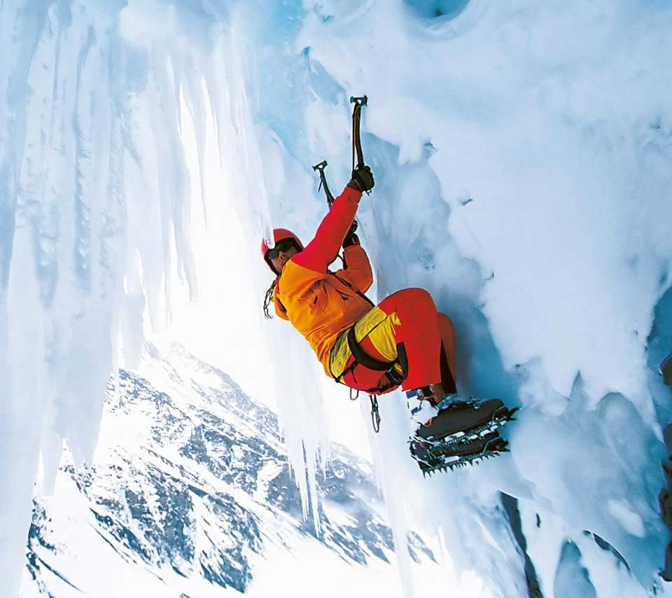 Скачать картинку Снег, Скалолазы, Альпинисты, Зима, Спорт, Люди в телефон бесплатно.