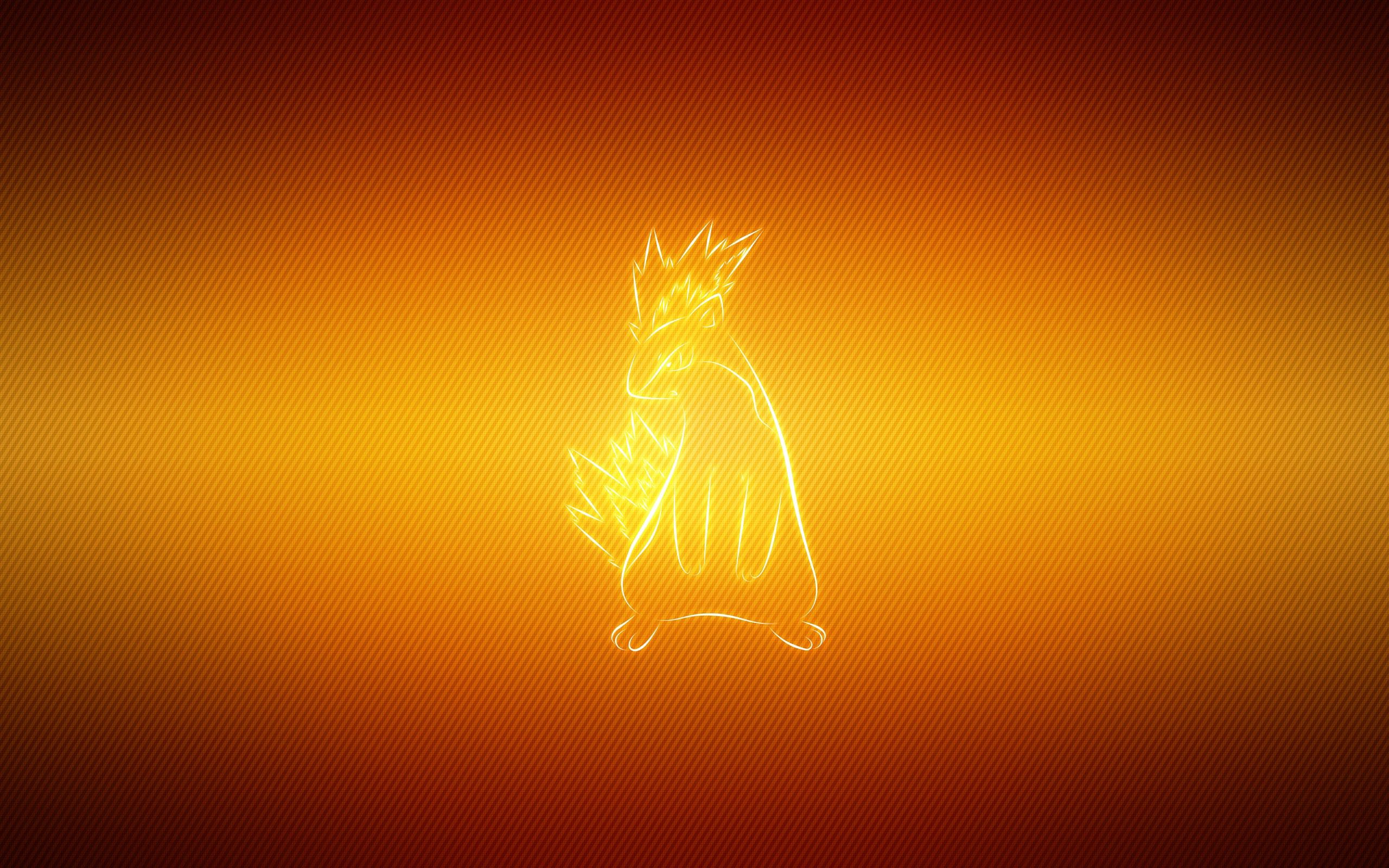 57253 download wallpaper Vector, Pokemon, Pokémon, Background, Cartoon, Quilava screensavers and pictures for free