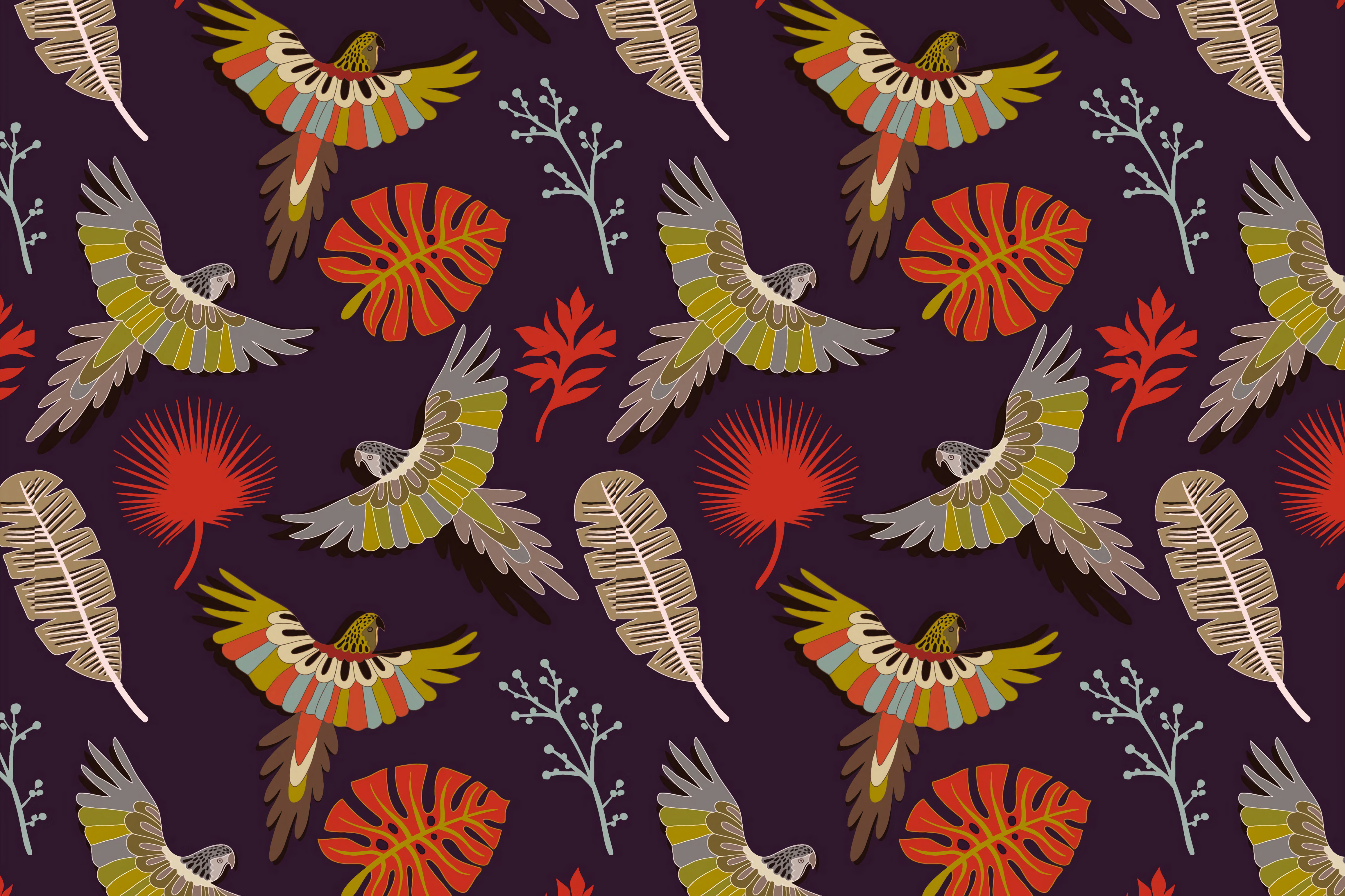 63376 Screensavers and Wallpapers Parrots for phone. Download Parrots, Birds, Feather, Vector, Multicolored, Motley, Pattern, Texture, Textures pictures for free