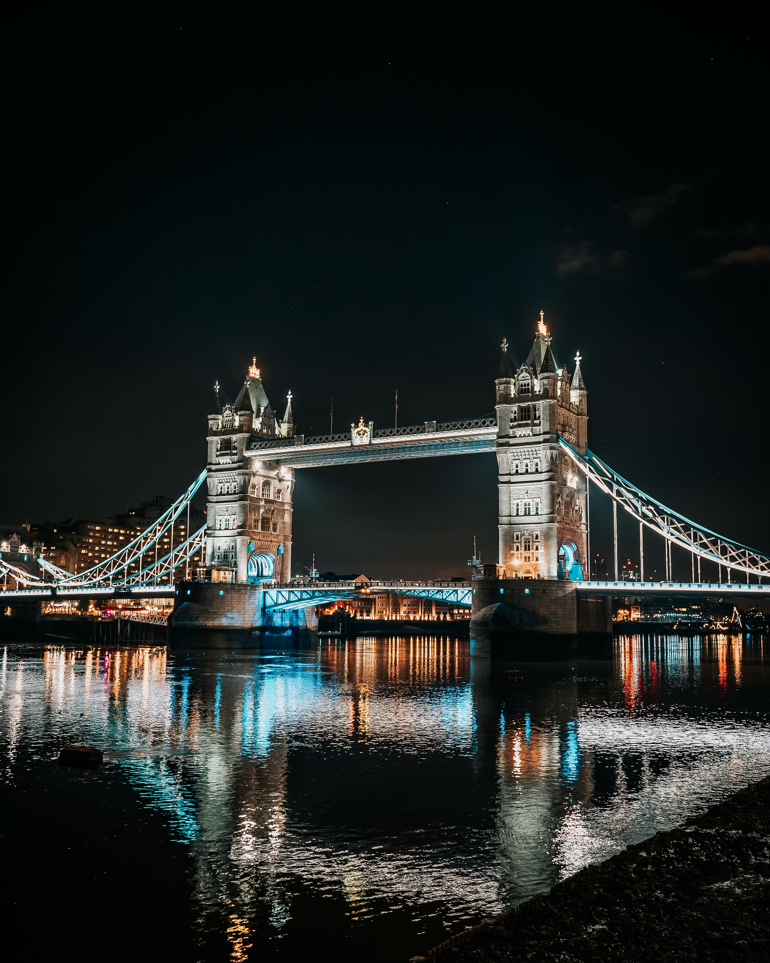 73339 Screensavers and Wallpapers London for phone. Download Cities, Rivers, Architecture, London, Night City, Bridge pictures for free