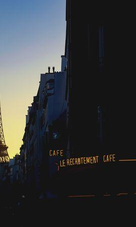 100441 baixar papel de parede França, Paris, Tarde, Noite, Cidades, Torre Eiffel - protetores de tela e imagens gratuitamente