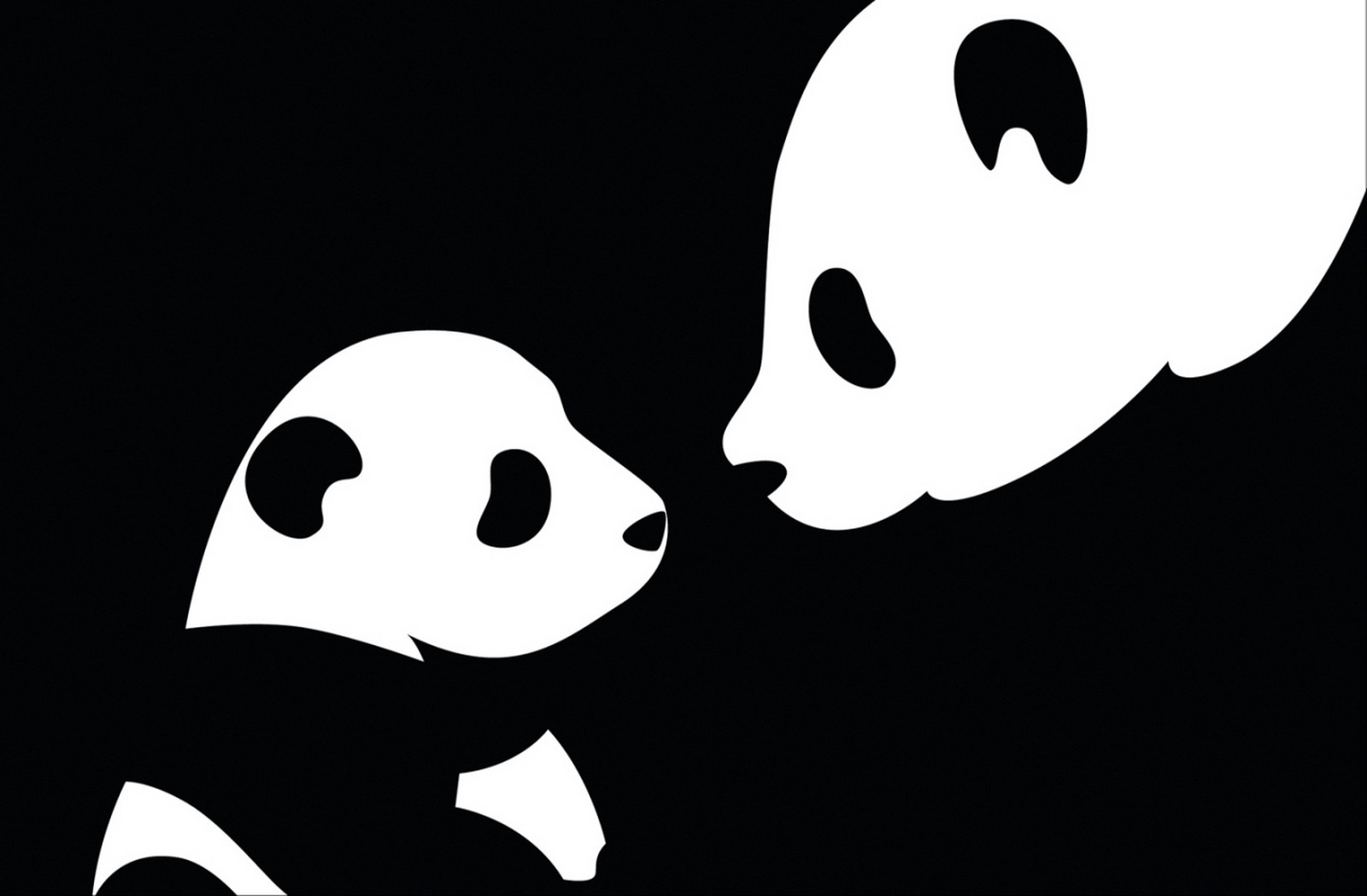 66501 free download Black wallpapers for phone, Vector, Panda, Picture, Drawing Black images and screensavers for mobile