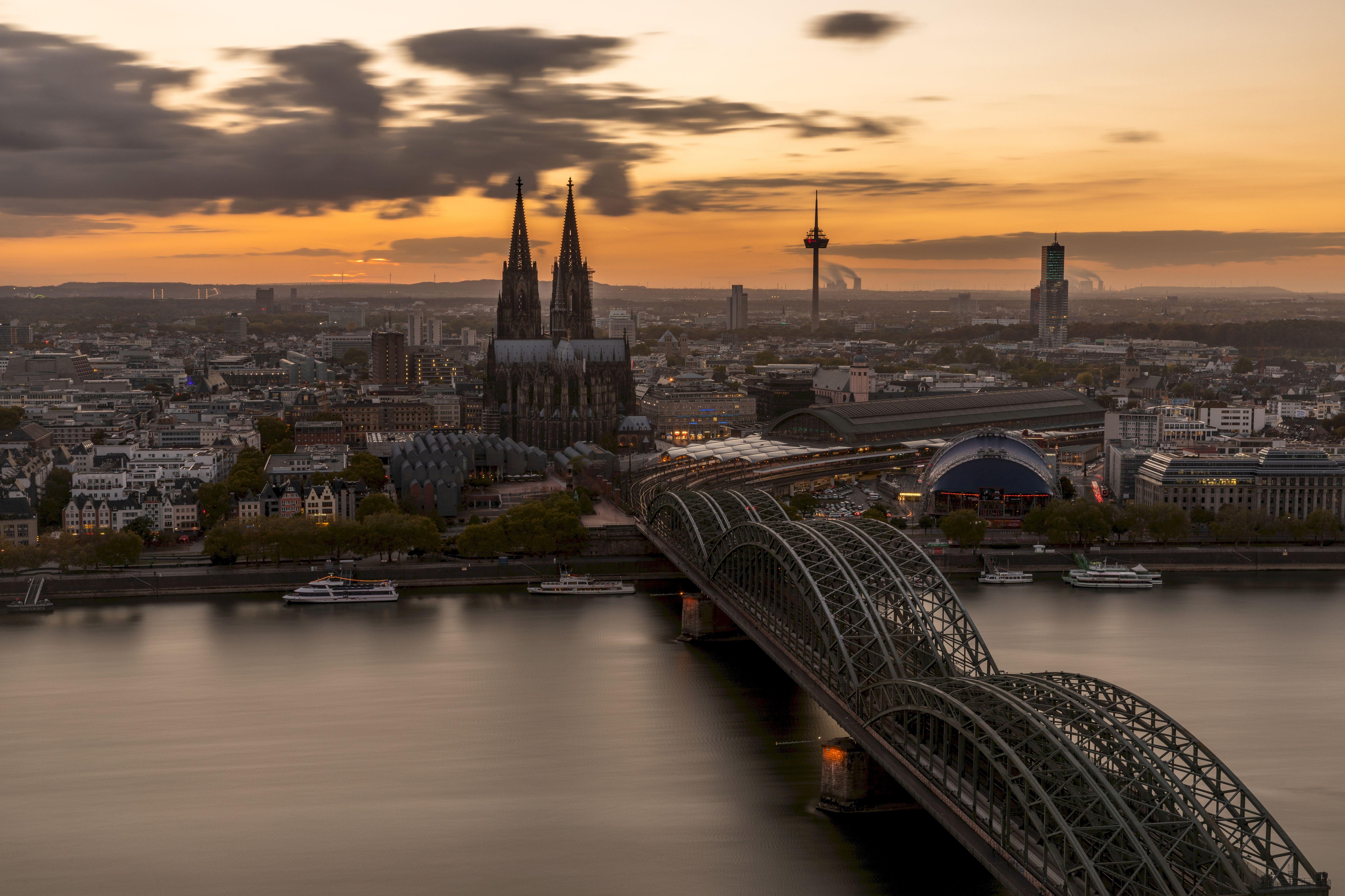 88370 Заставки и Обои Города на телефон. Скачать Мост, Готический, Кельн, Германия, Архитектура, Города картинки бесплатно