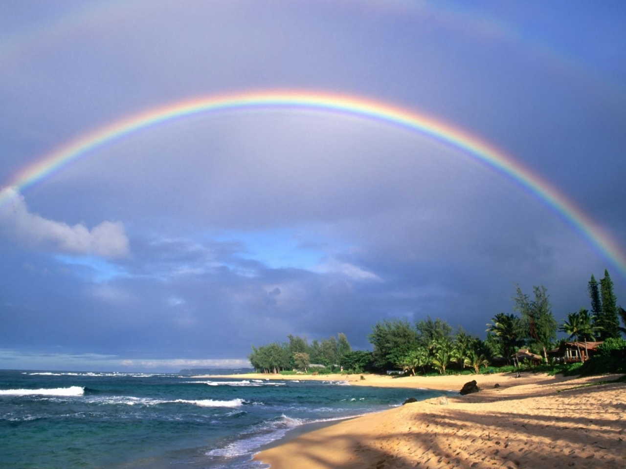 25256壁紙のダウンロード風景, 海, 波, ビーチ, レインボー-スクリーンセーバーと写真を無料で
