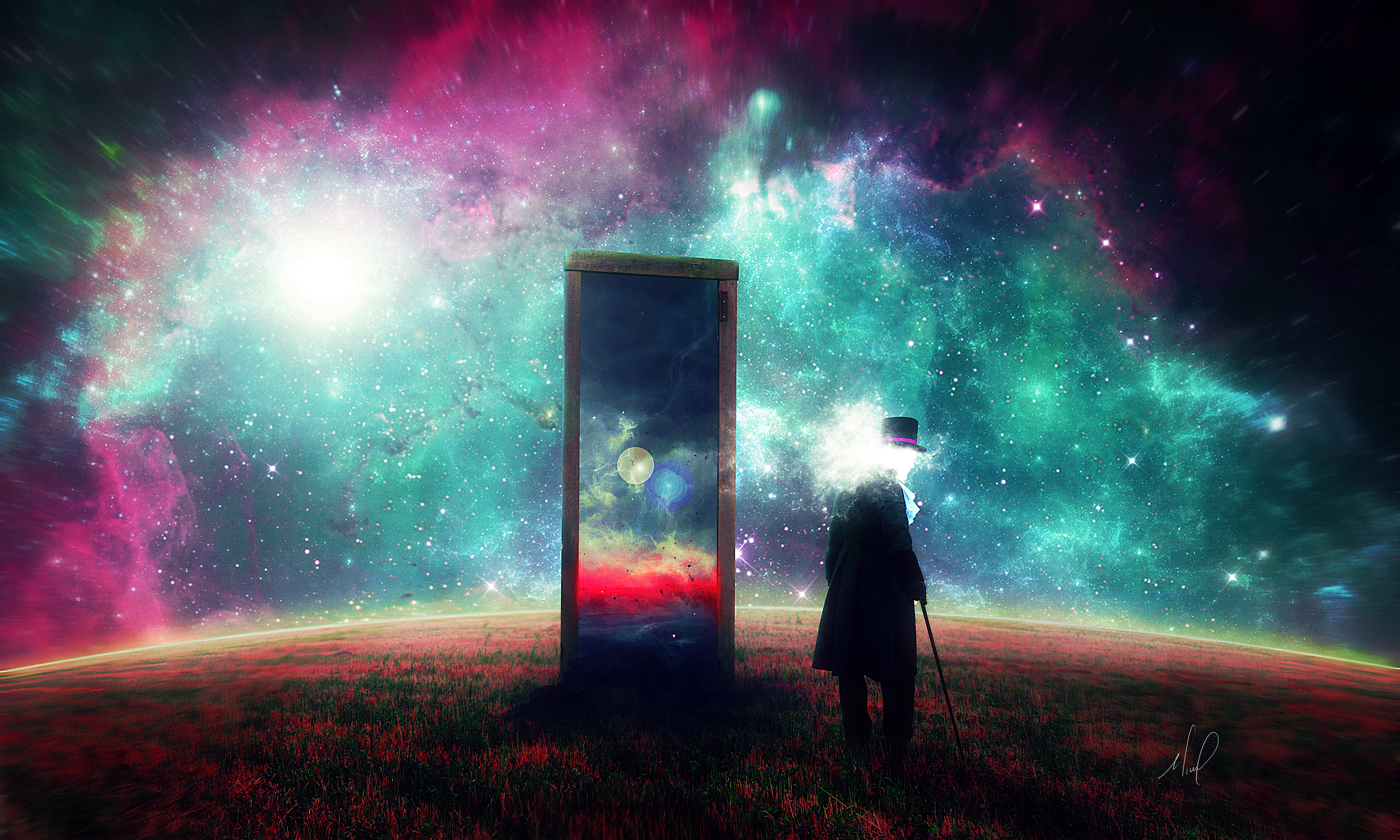 129622 Screensavers and Wallpapers Human for phone. Download Art, Universe, Human, Person, Mirror, Surrealism pictures for free