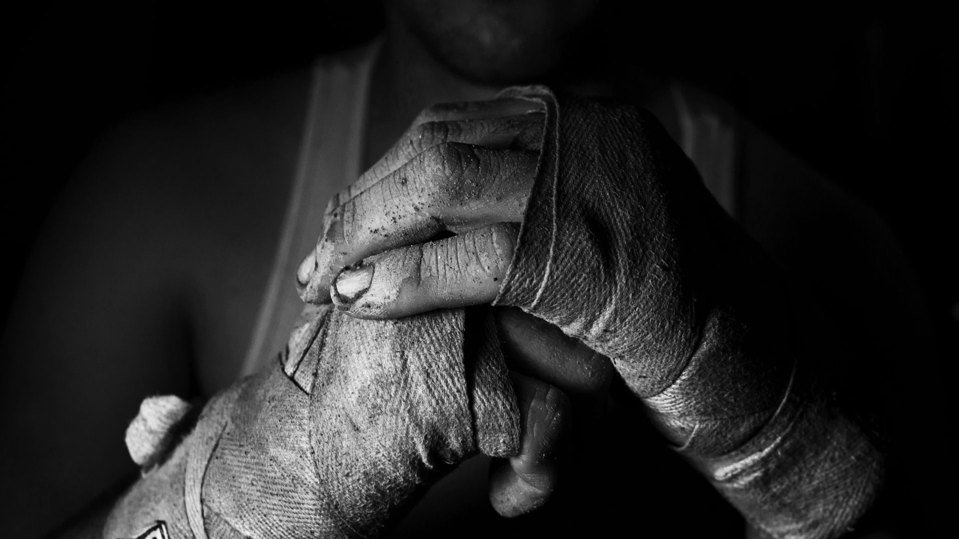 80823 Screensavers and Wallpapers Bw for phone. Download Sports, Hands, Bw, Chb, Fighter, Bandages pictures for free
