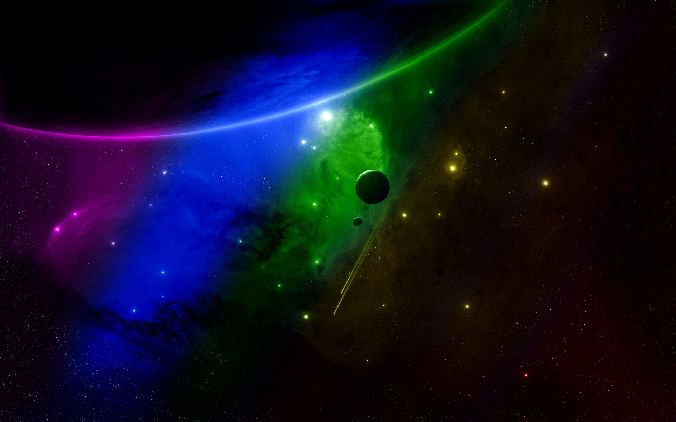 81422 скачать обои Абстракция, Небо, Облака, Разноцветный, Космос - заставки и картинки бесплатно