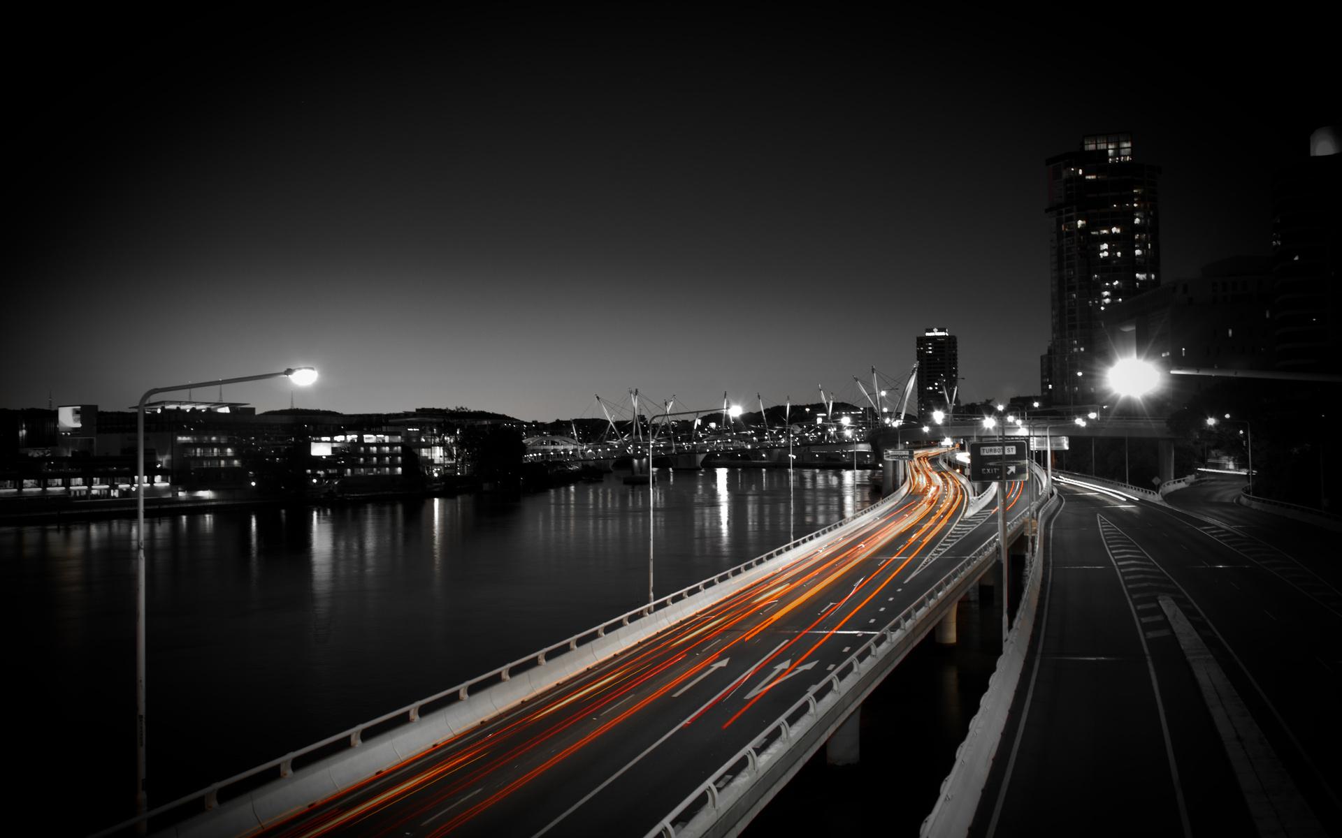40925 скачать обои Пейзаж, Города, Дороги, Ночь - заставки и картинки бесплатно