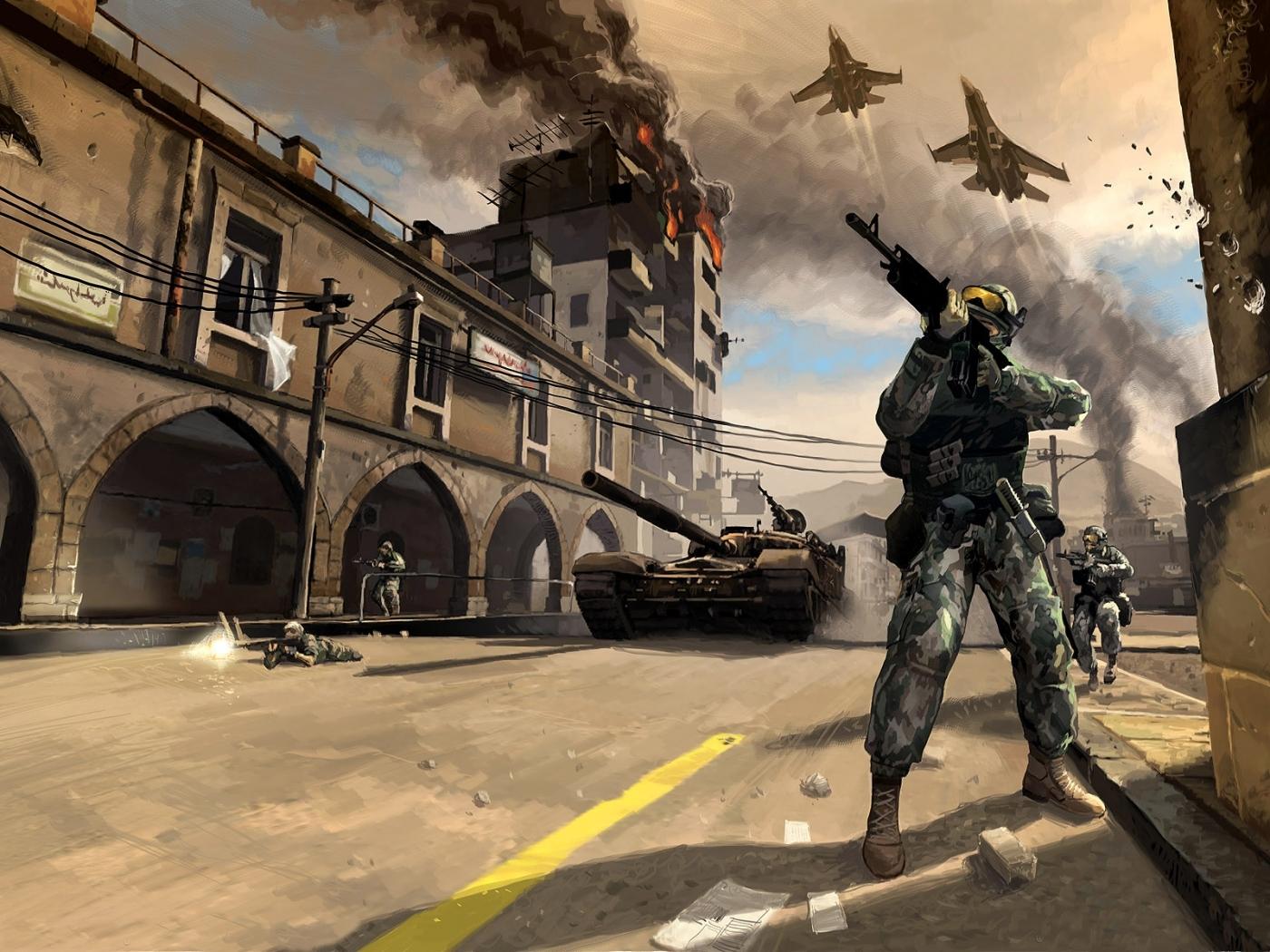 25443 Hintergrundbild herunterladen Spiele, Schlachtfeld, Soldiers - Bildschirmschoner und Bilder kostenlos
