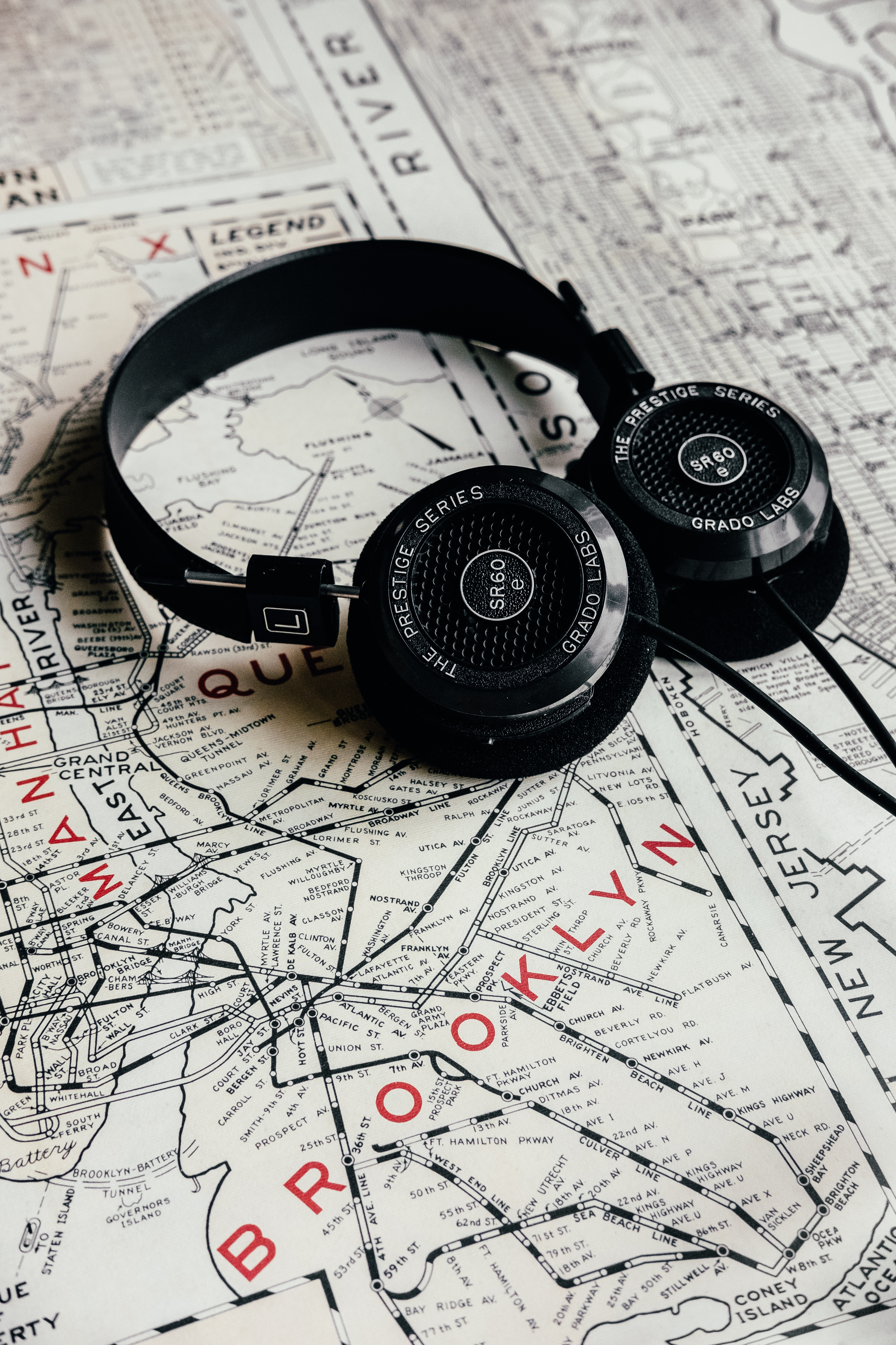 104125 download wallpaper Music, Headphones, Journey, Map, Audio screensavers and pictures for free