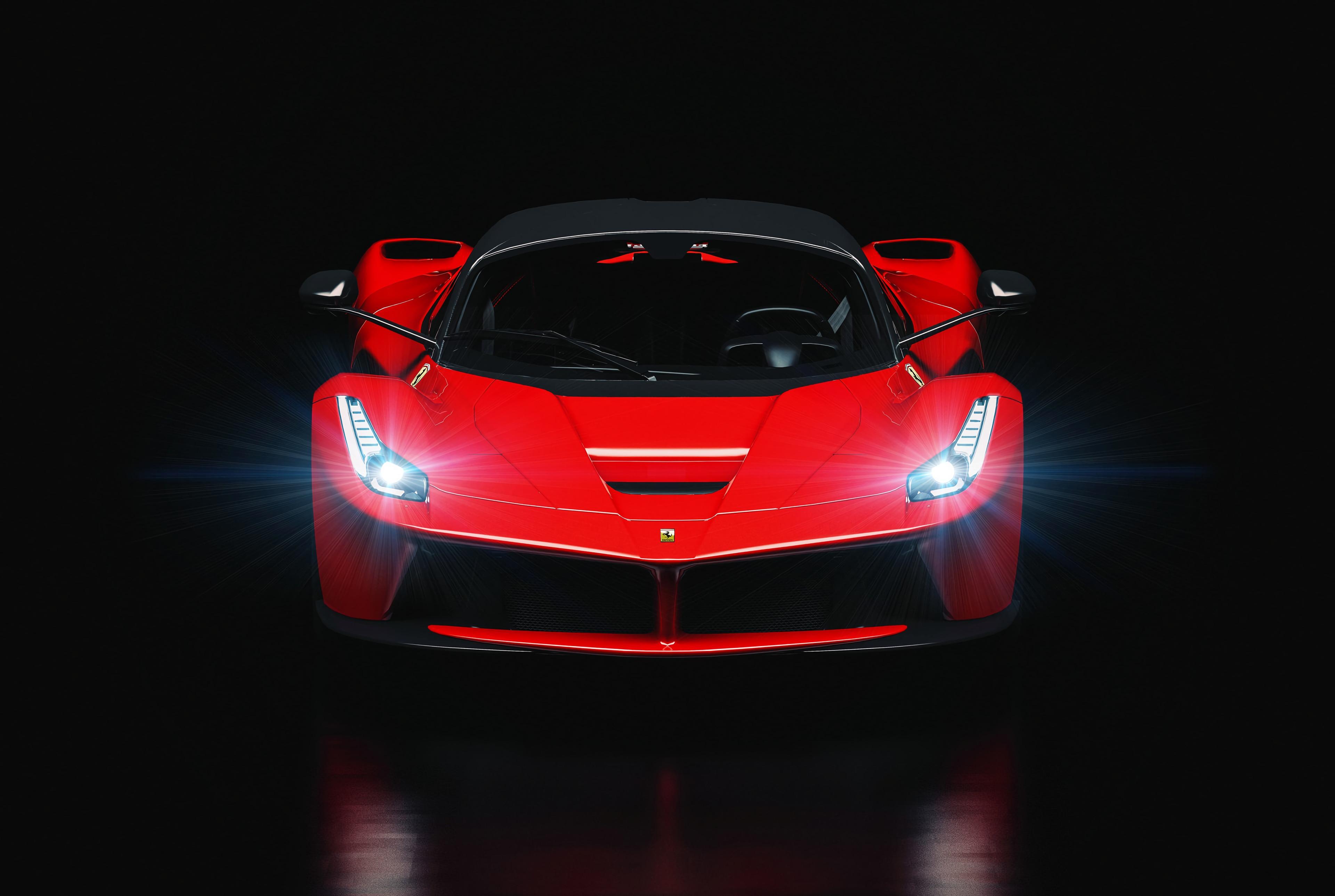 87813 Заставки и Обои Фары на телефон. Скачать Свечение, Феррари (Ferrari), Тачки (Cars), Машина, Спорткар, Фары картинки бесплатно