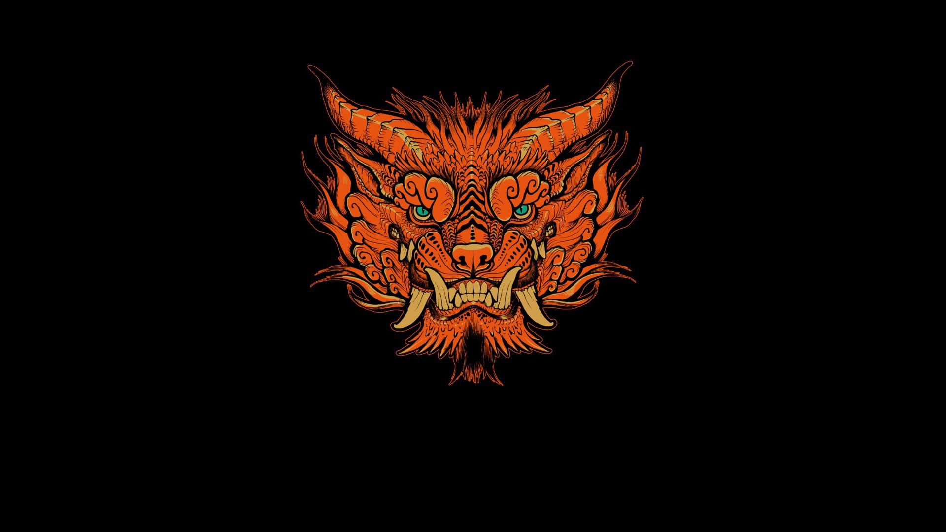 118463 download wallpaper Vector, Aggression, Muzzle, Foo Dog screensavers and pictures for free