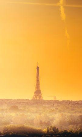 93870 baixar papel de parede Madrugada, Horizonte, Paris, França, Cidades, Torre Eiffel - protetores de tela e imagens gratuitamente
