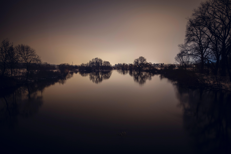 132766 Заставки и Обои Озеро на телефон. Скачать Озеро, Природа, Деревья, Закат, Пруд картинки бесплатно
