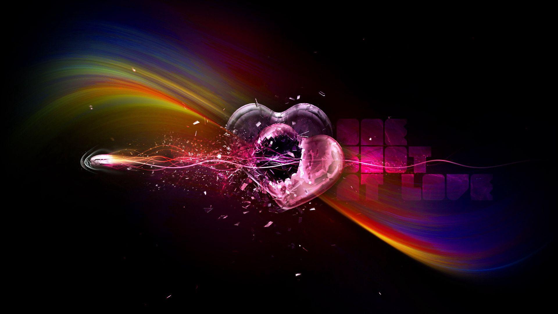 127480 télécharger le fond d'écran Amour, Un Cœur, Cœur, Coupler, Paire, Multicolore, Hétéroclite, Ombre - économiseurs d'écran et images gratuitement