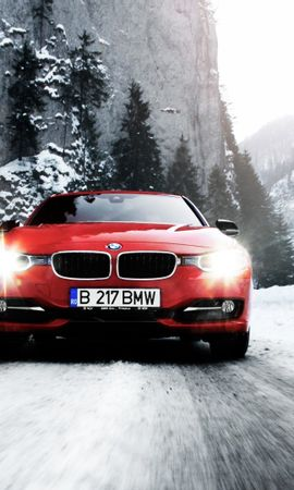 19741 download wallpaper Transport, Auto, Winter, Roads, Mountains, Bmw, Snow screensavers and pictures for free