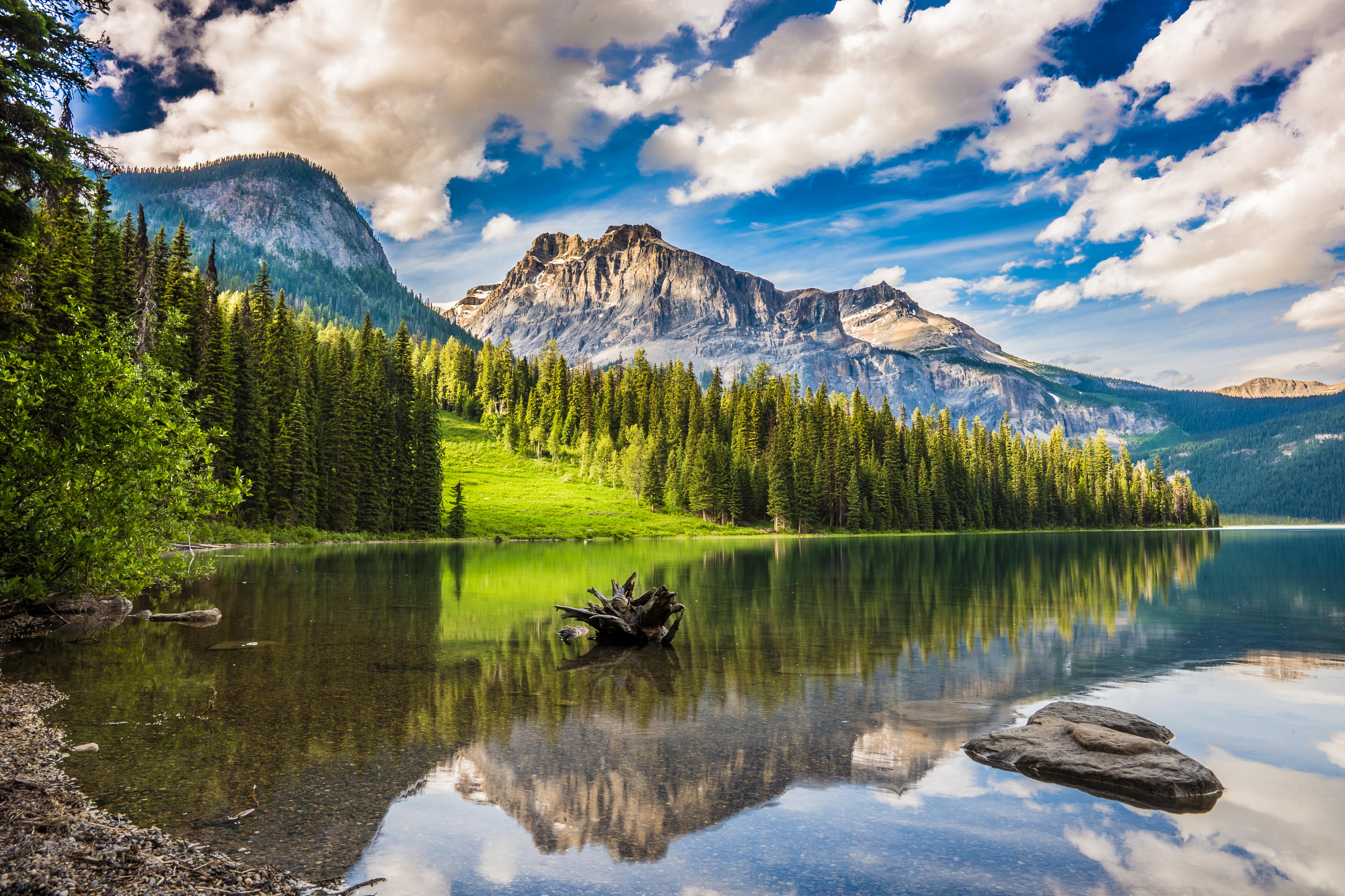 63400 Hintergrundbild 1024x768 kostenlos auf deinem Handy, lade Bilder Natur, Mountains, See, Wald, Haken 1024x768 auf dein Handy herunter