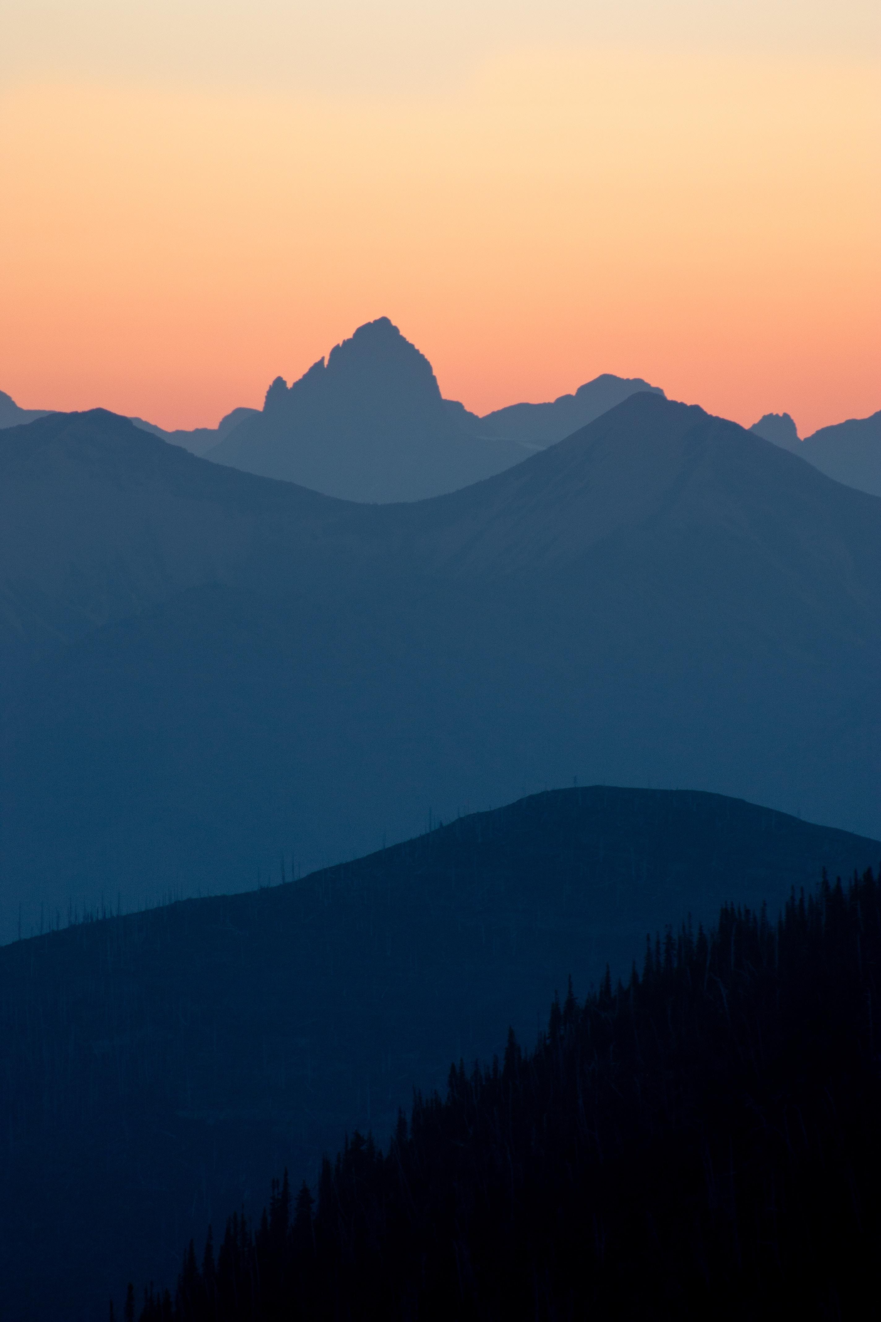142076 скачать обои Природа, Горы, Сумерки, Холмы, Очертания, Полумрак - заставки и картинки бесплатно